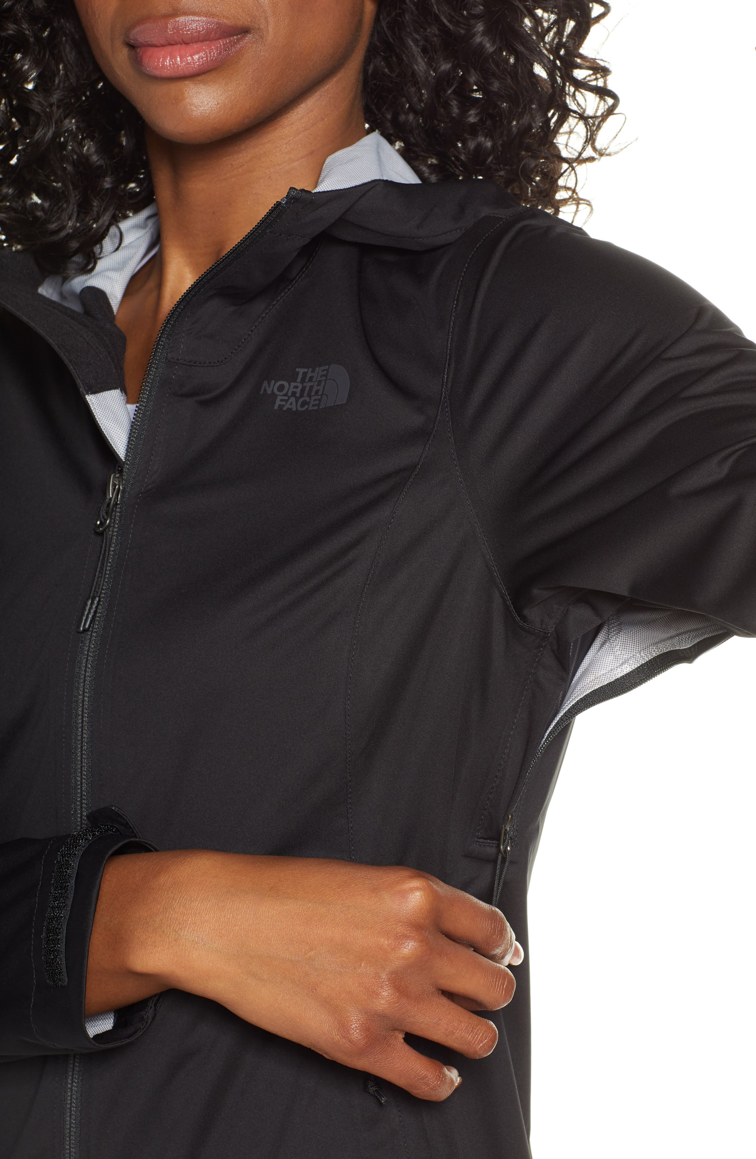 THE NORTH FACE, Allproof Stretch Jacket, Alternate thumbnail 5, color, TNF BLACK
