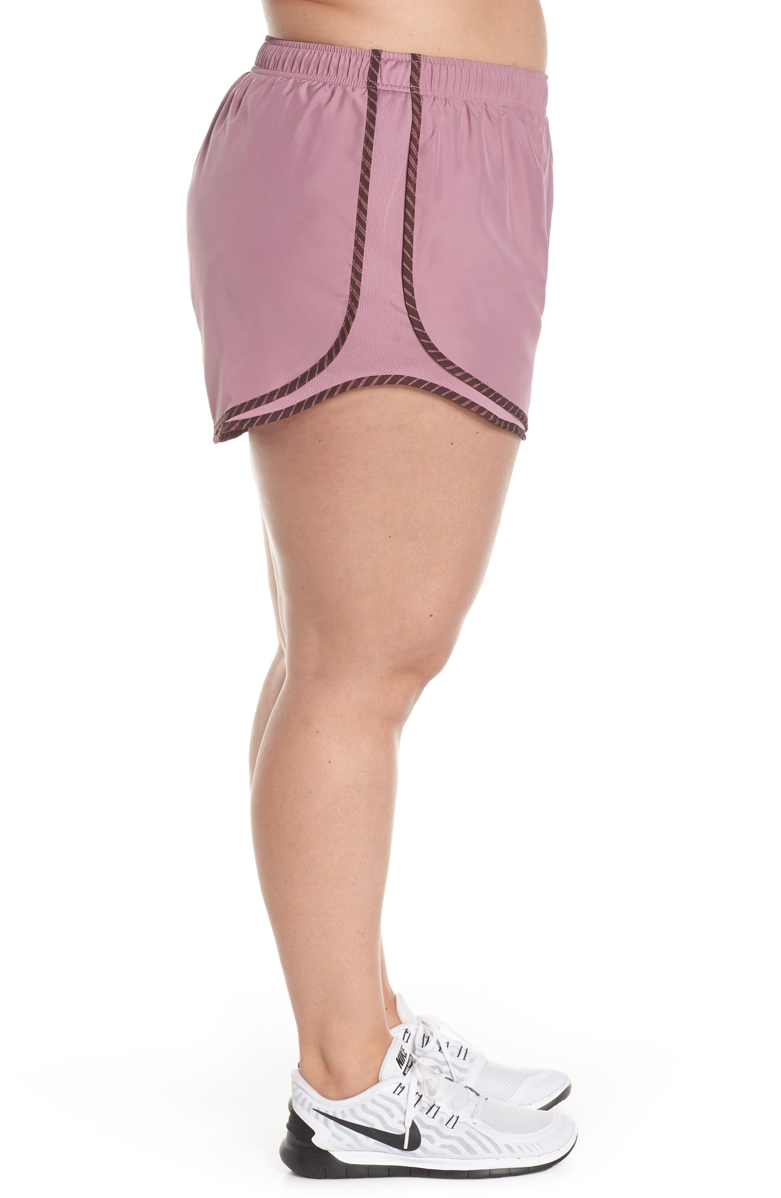 NIKE, Dry Tempo High Rise Running Shorts, Alternate thumbnail 4, color, PLUM/ EL DORADO/ WOLF GREY