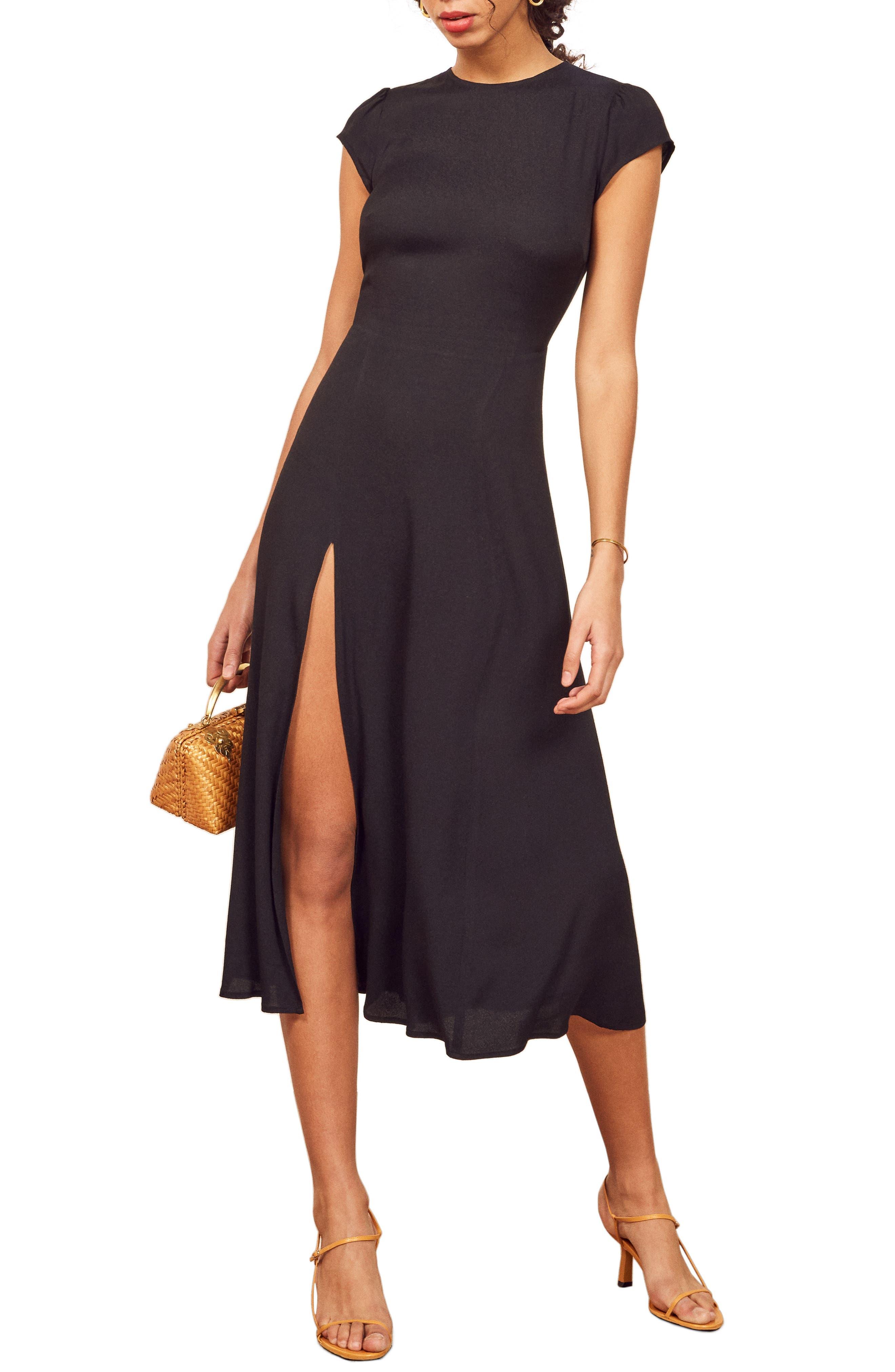REFORMATION Gavin Dress, Main, color, BLACK