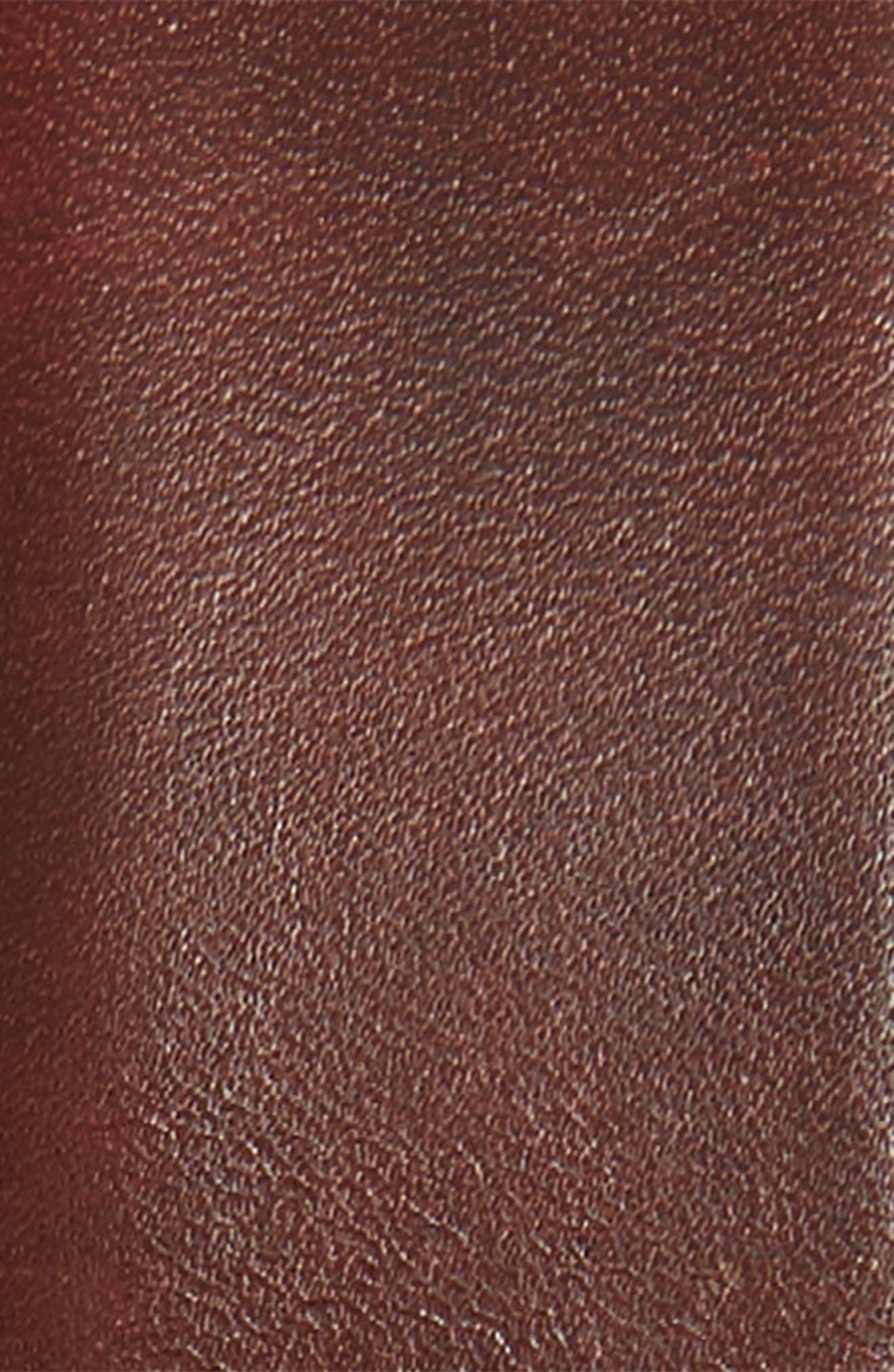 MAGNANNI, Tanner Leather Belt, Alternate thumbnail 2, color, TOBACCO