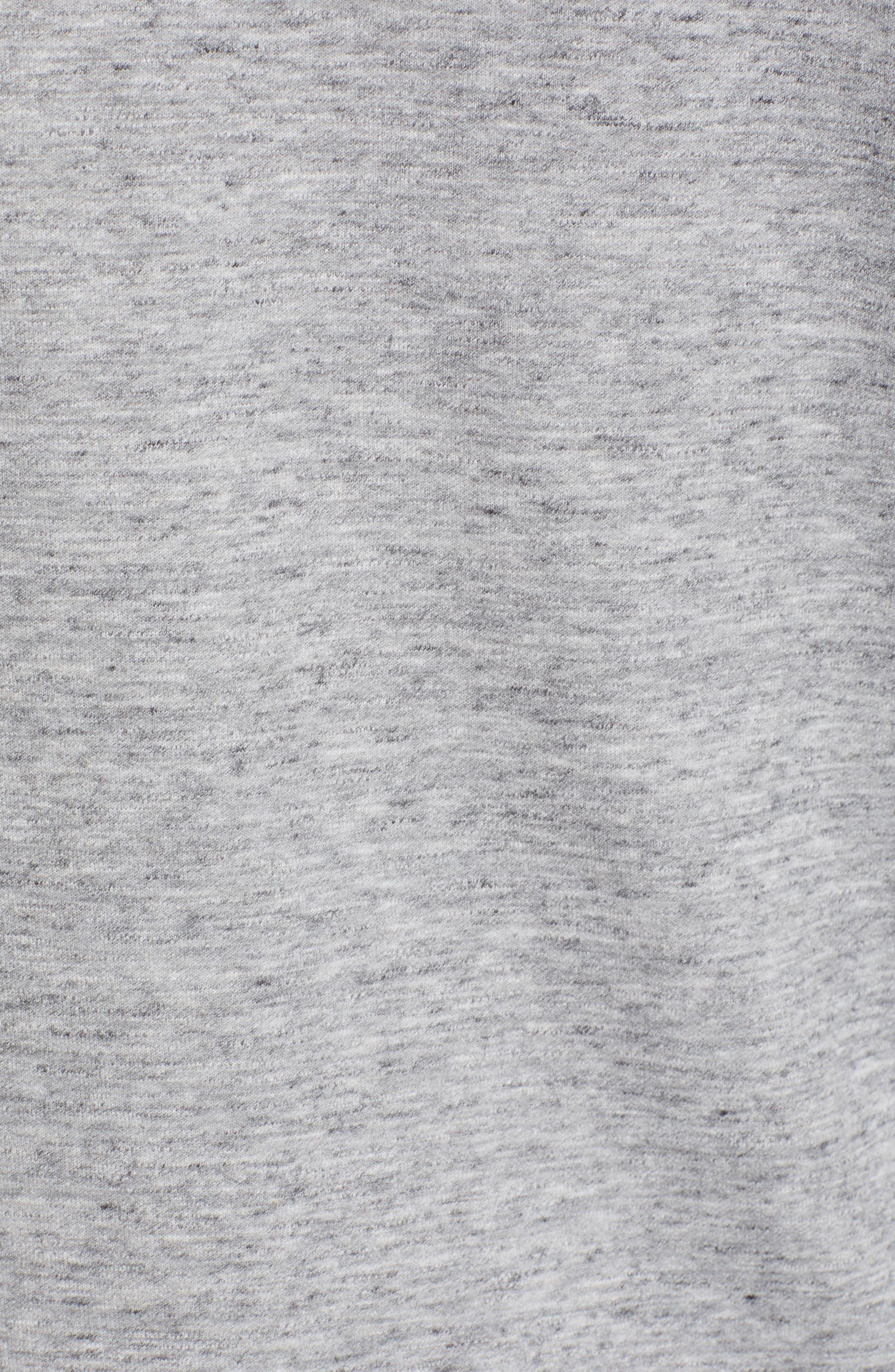 ZELLA, Magnetite Zip Front Hoodie, Alternate thumbnail 6, color, GREY ZINC MELANGE