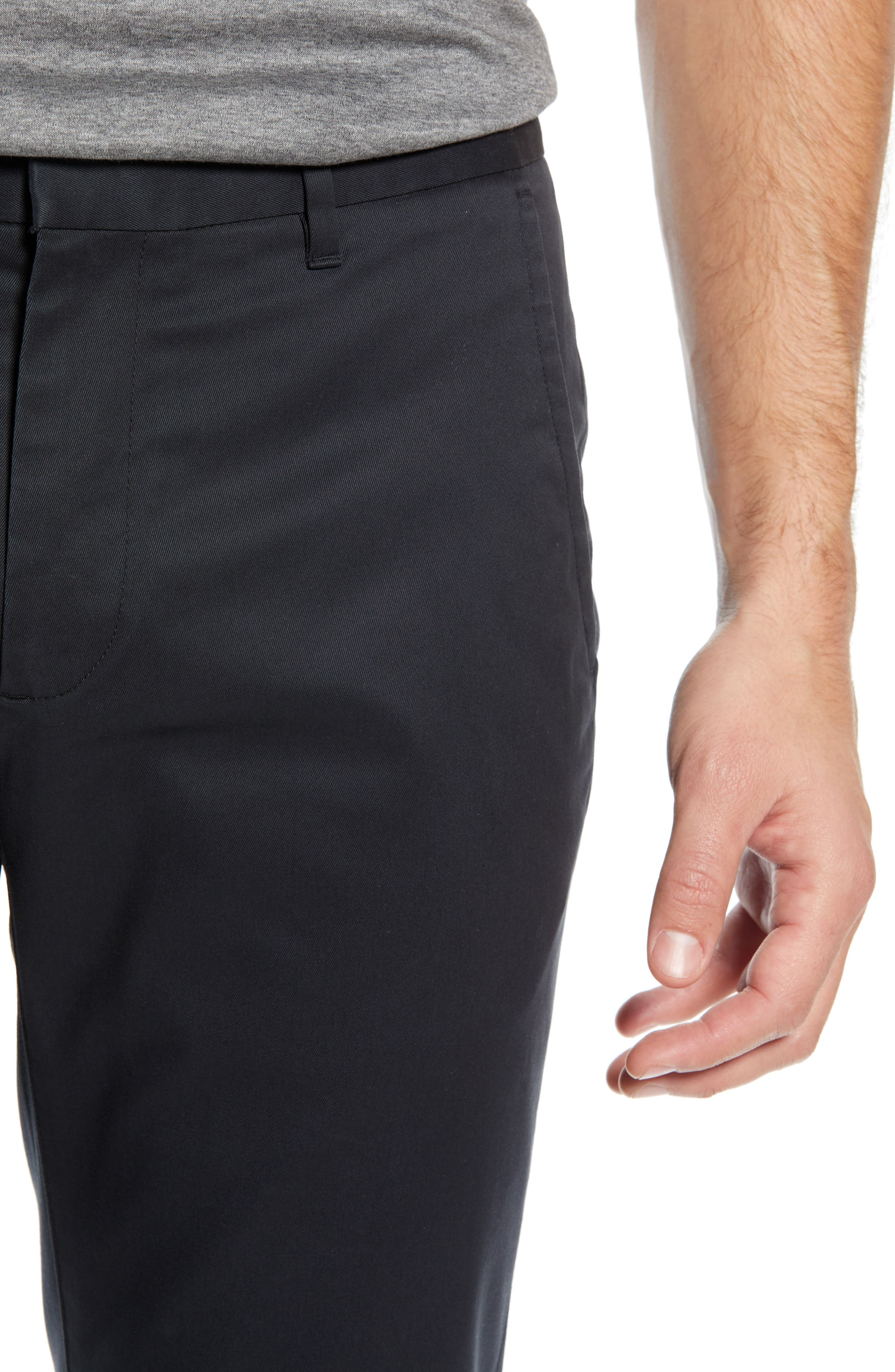 BONOBOS, Weekday Warrior Tailored Fit Stretch Dress Pants, Alternate thumbnail 5, color, BLACK
