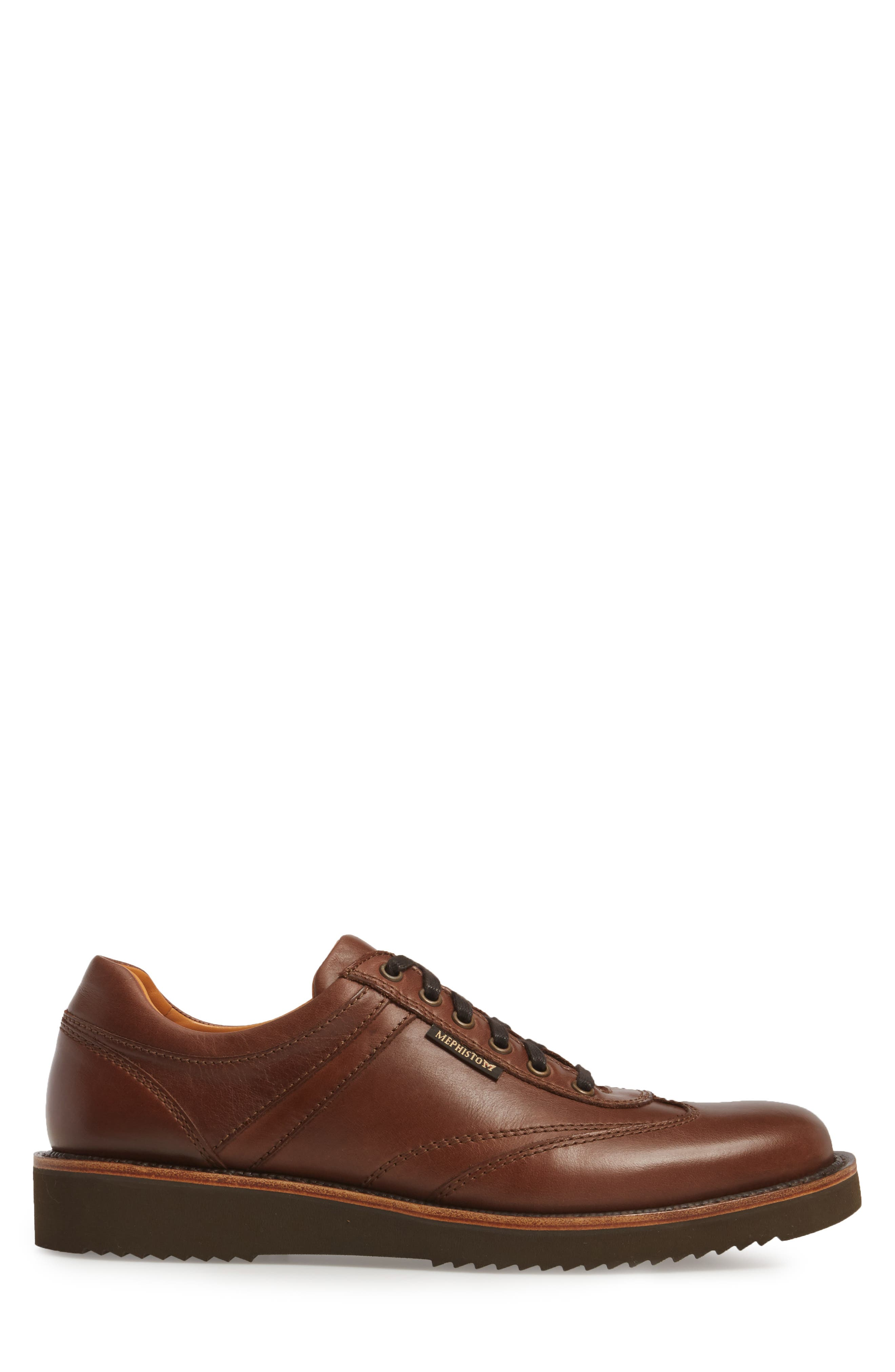 MEPHISTO, Adriano Sneaker, Alternate thumbnail 3, color, CHESTNUT LEATHER