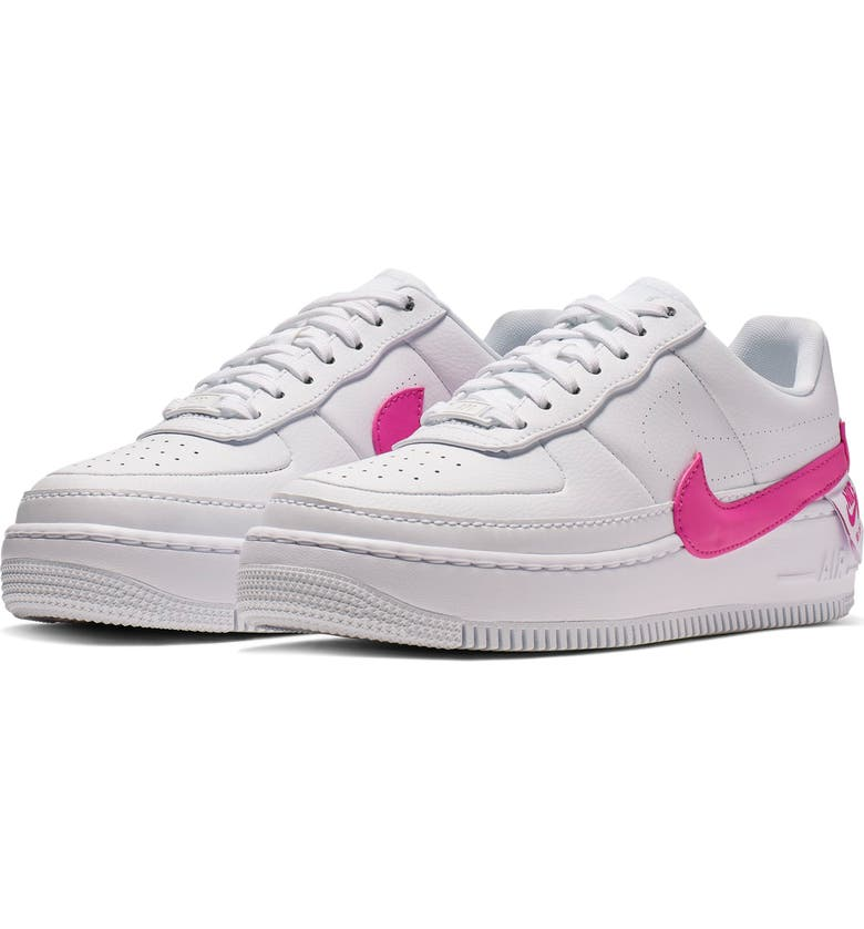 new product 78fa3 ee771 NIKE Air Force 1 Jester XX Sneaker, Main, color, WHITE  LASER FUCHSIA