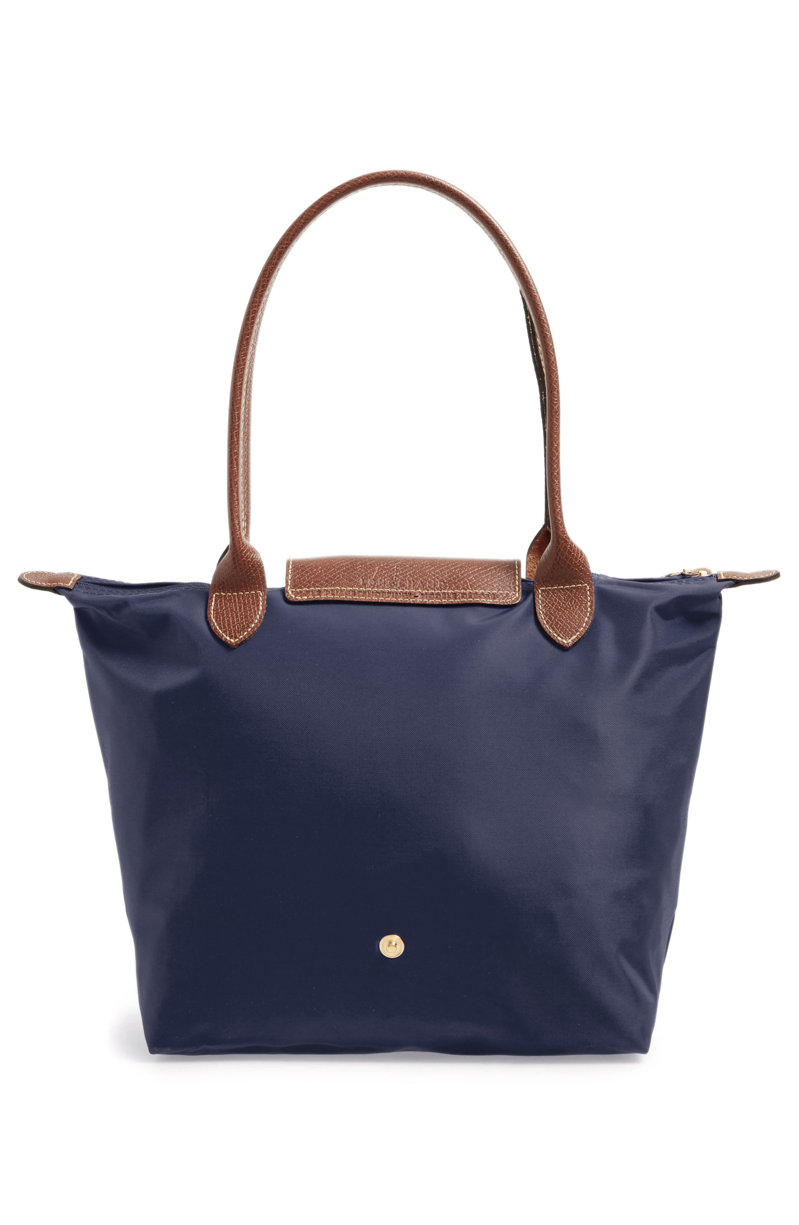 LONGCHAMP, 'Small Le Pliage' Tote, Alternate thumbnail 3, color, NEW NAVY