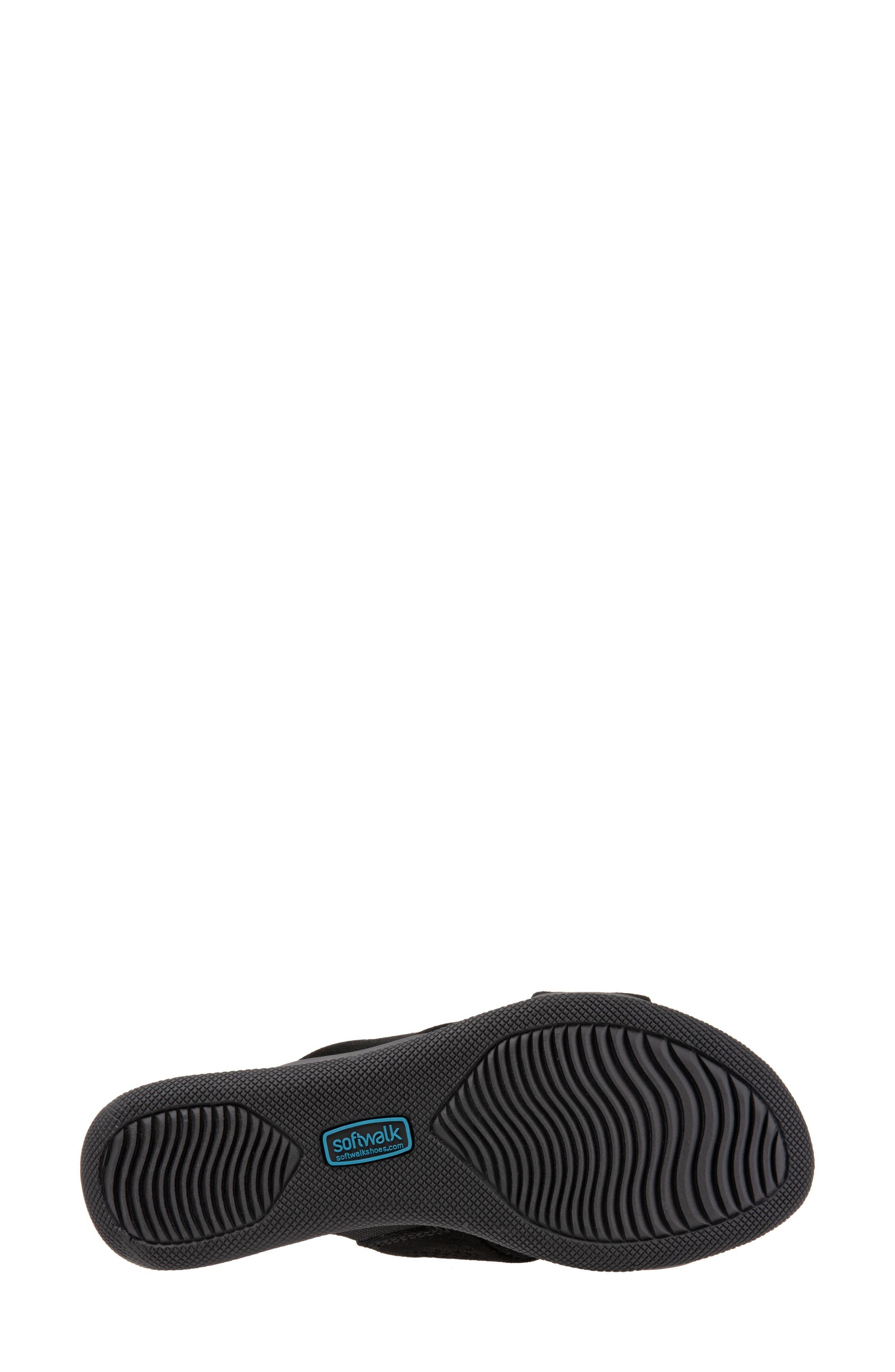 SOFTWALK<SUP>®</SUP>, 'Tillman' Leather Cross Strap Slide Sandal, Alternate thumbnail 6, color, 002