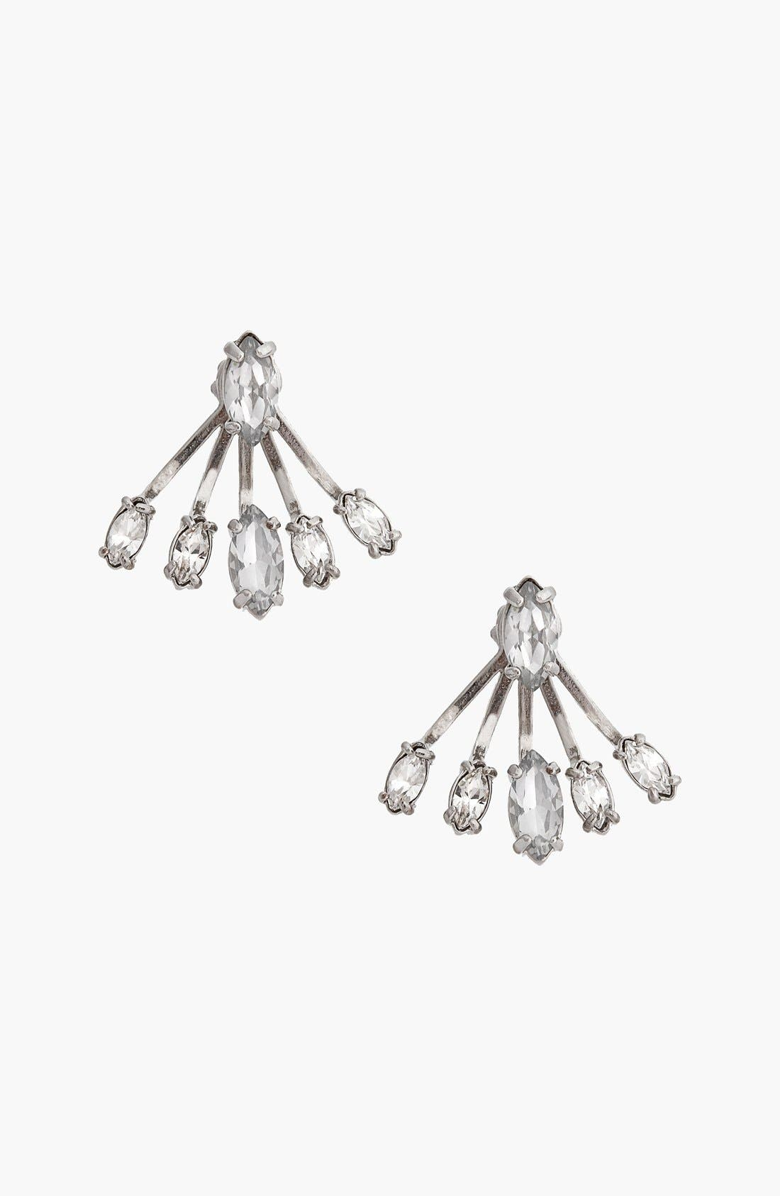 REBECCA MINKOFF Crystal Ear Jackets, Main, color, 040