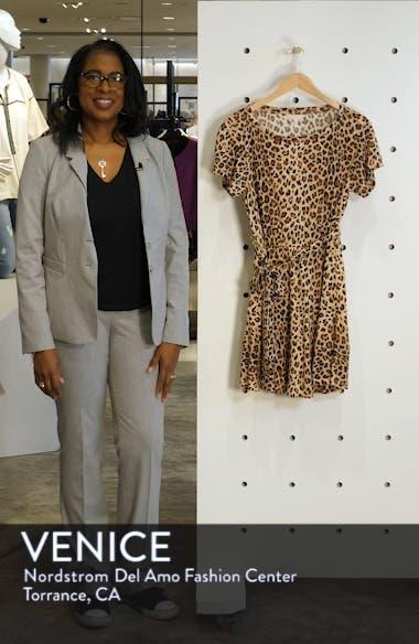 Leopard Print Linen Minidress, sales video thumbnail