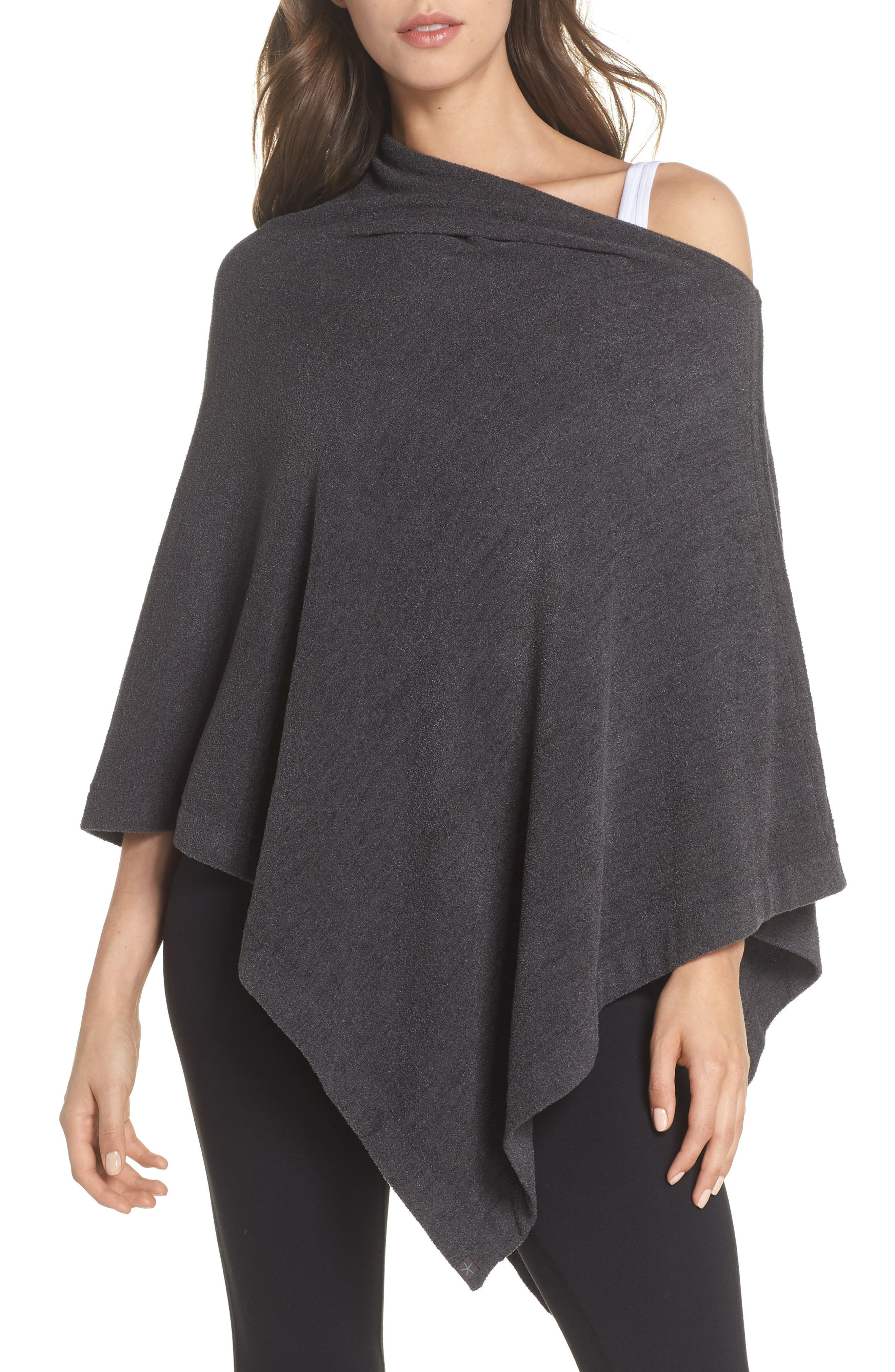 BAREFOOT DREAMS<SUP>®</SUP>, CozyChic Ultra Lite<sup>®</sup> Poncho, Main thumbnail 1, color, 022
