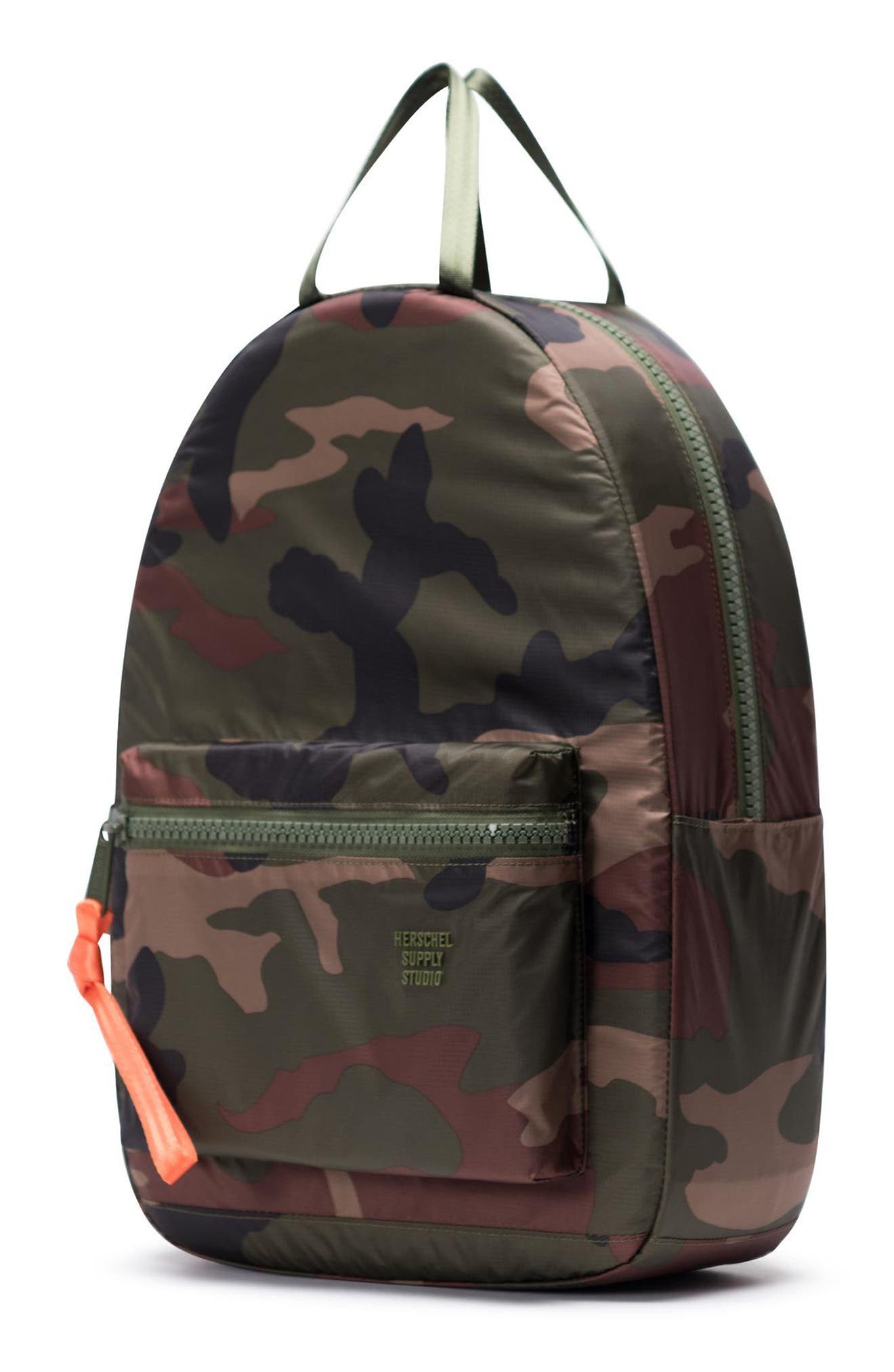 HERSCHEL SUPPLY CO., HS6 Studio Collection Backpack, Alternate thumbnail 4, color, WOODLAND CAMO