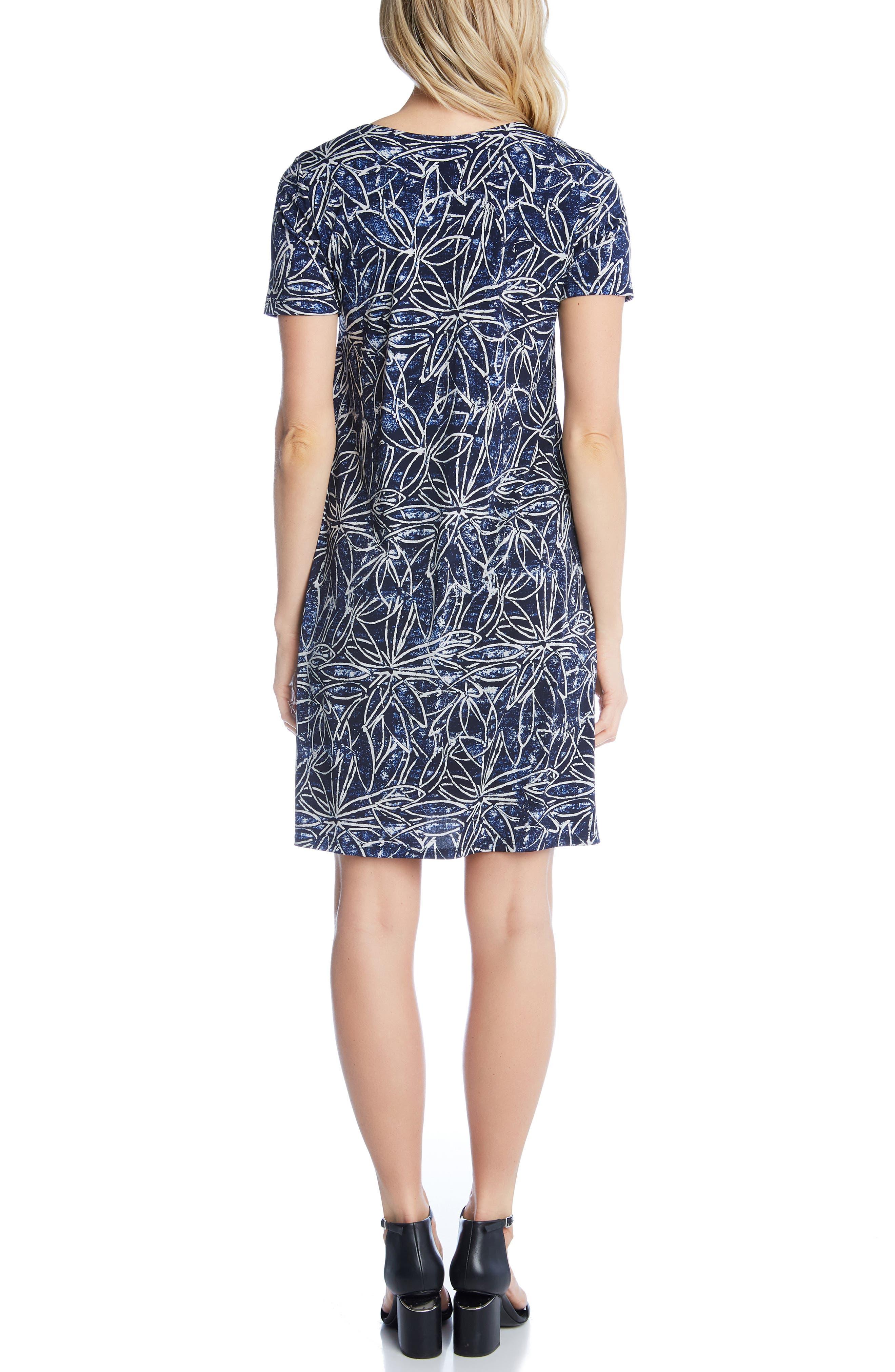 KAREN KANE, Floral Print Shift Dress, Alternate thumbnail 2, color, PRINT
