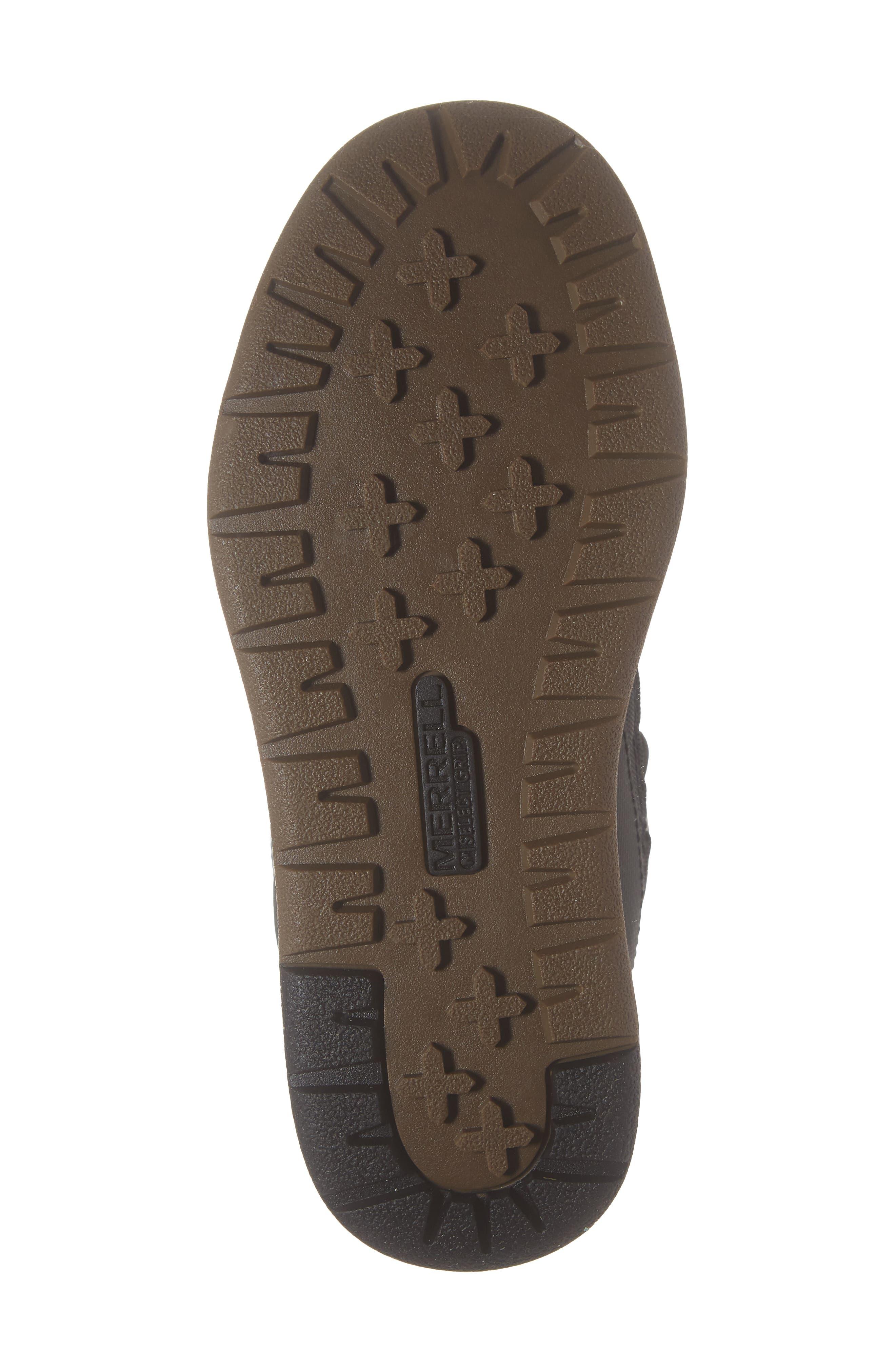 MERRELL, Snow Crush Waterproof Snow Boot, Alternate thumbnail 6, color, 020