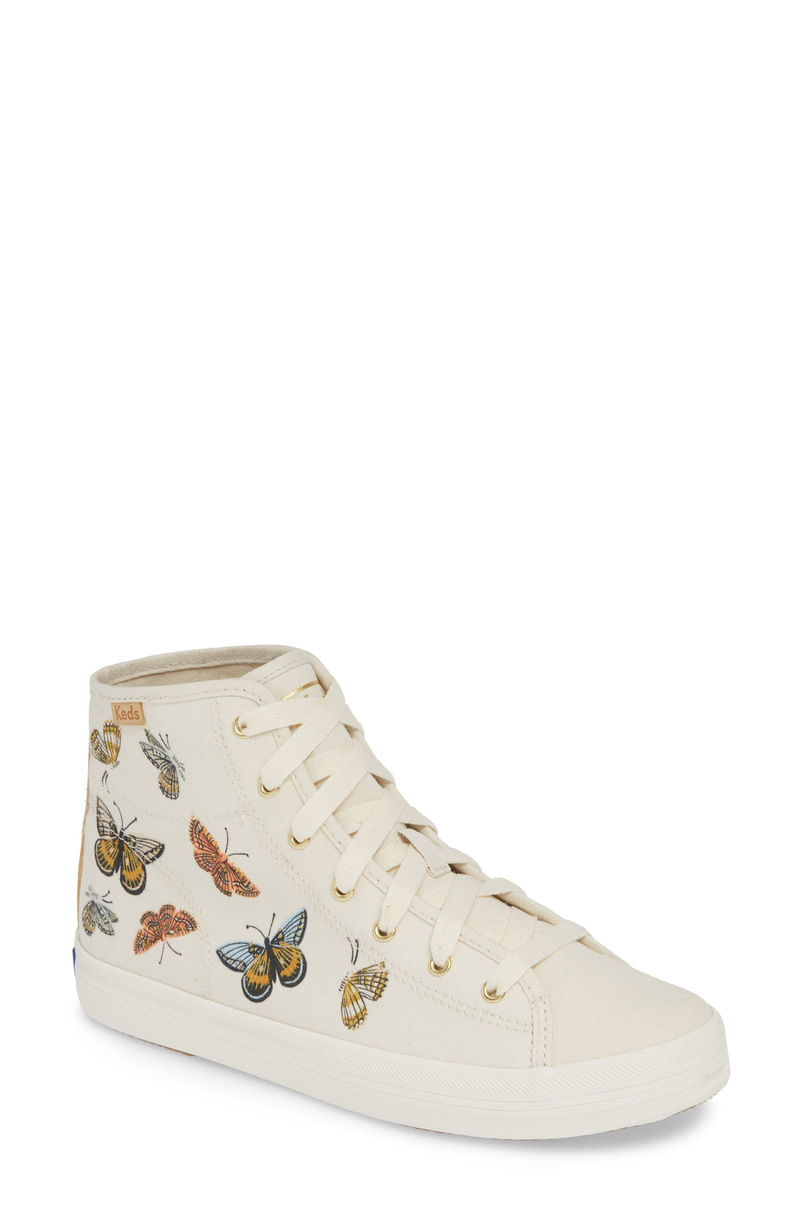 KEDS<SUP>®</SUP> x Rifle Paper Co. Kickstart Butterfly Sneaker, Main, color, CREAM