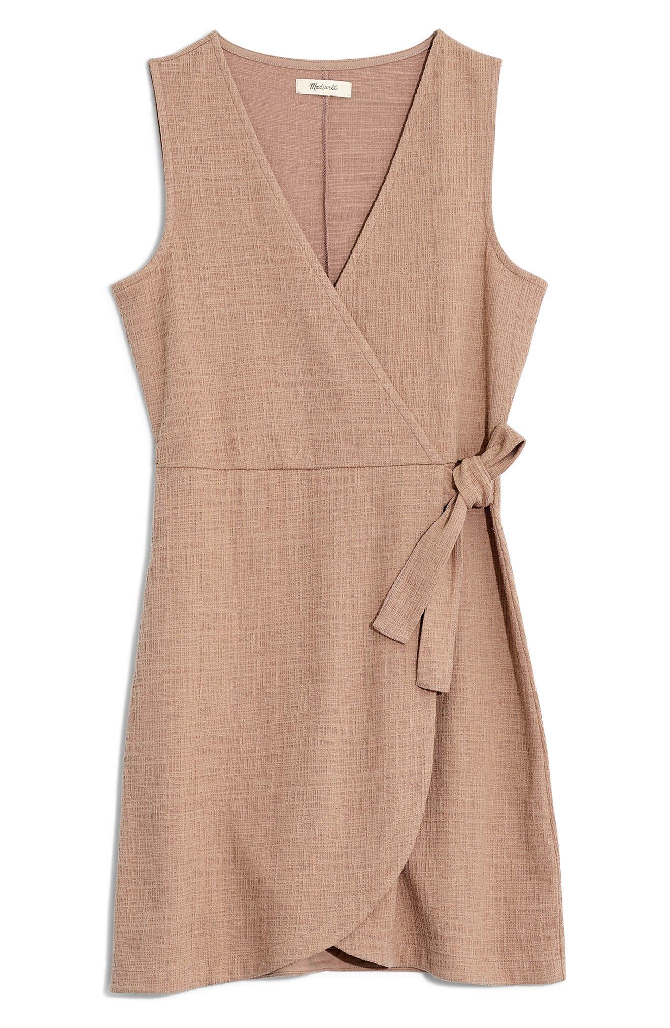 MADEWELL, Texture & Thread Side Tie Minidress, Alternate thumbnail 7, color, TELLURIDE STONE
