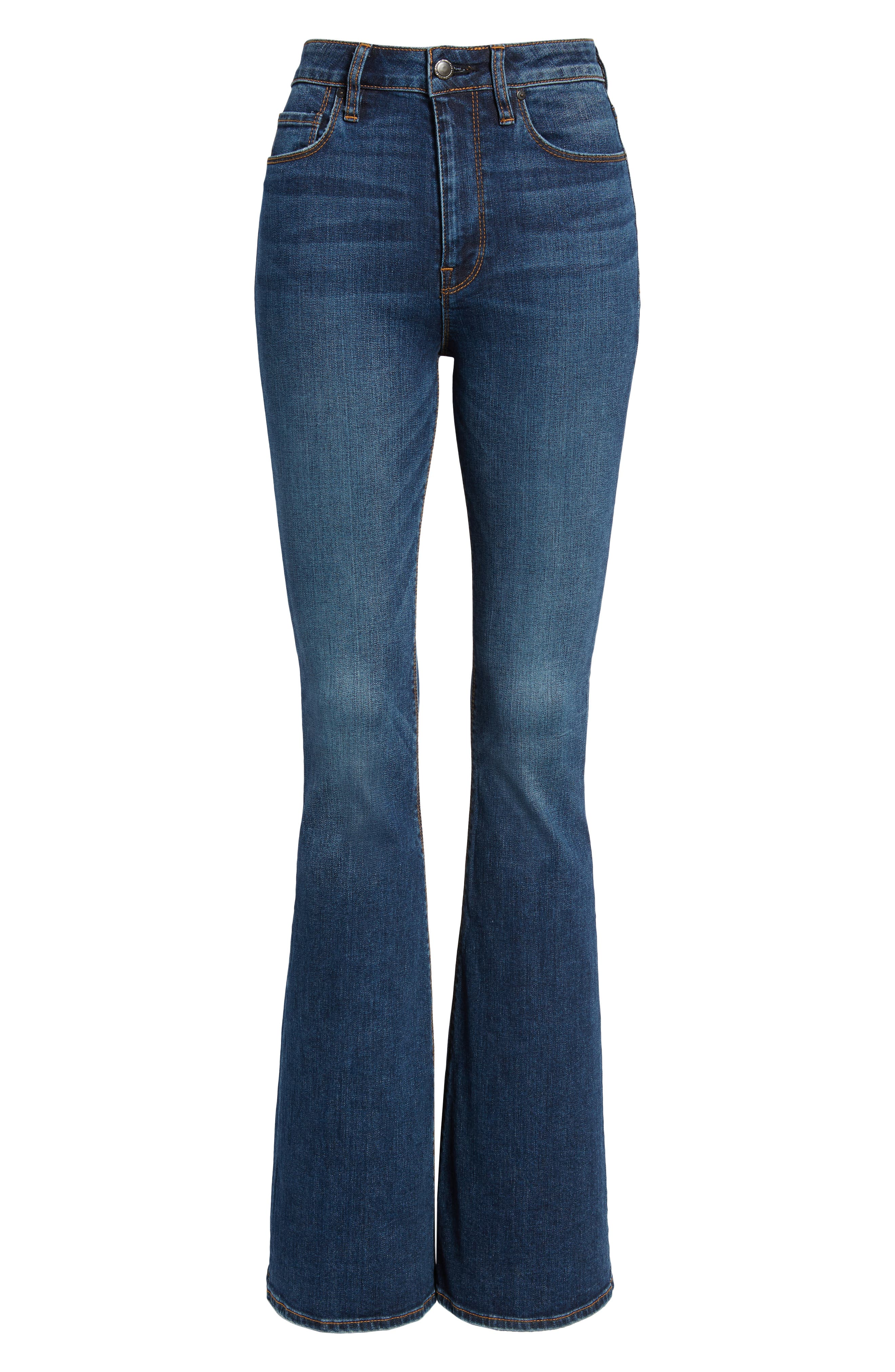 HUDSON JEANS, Holly High Waist Flare Jeans, Alternate thumbnail 7, color, VAGABOND