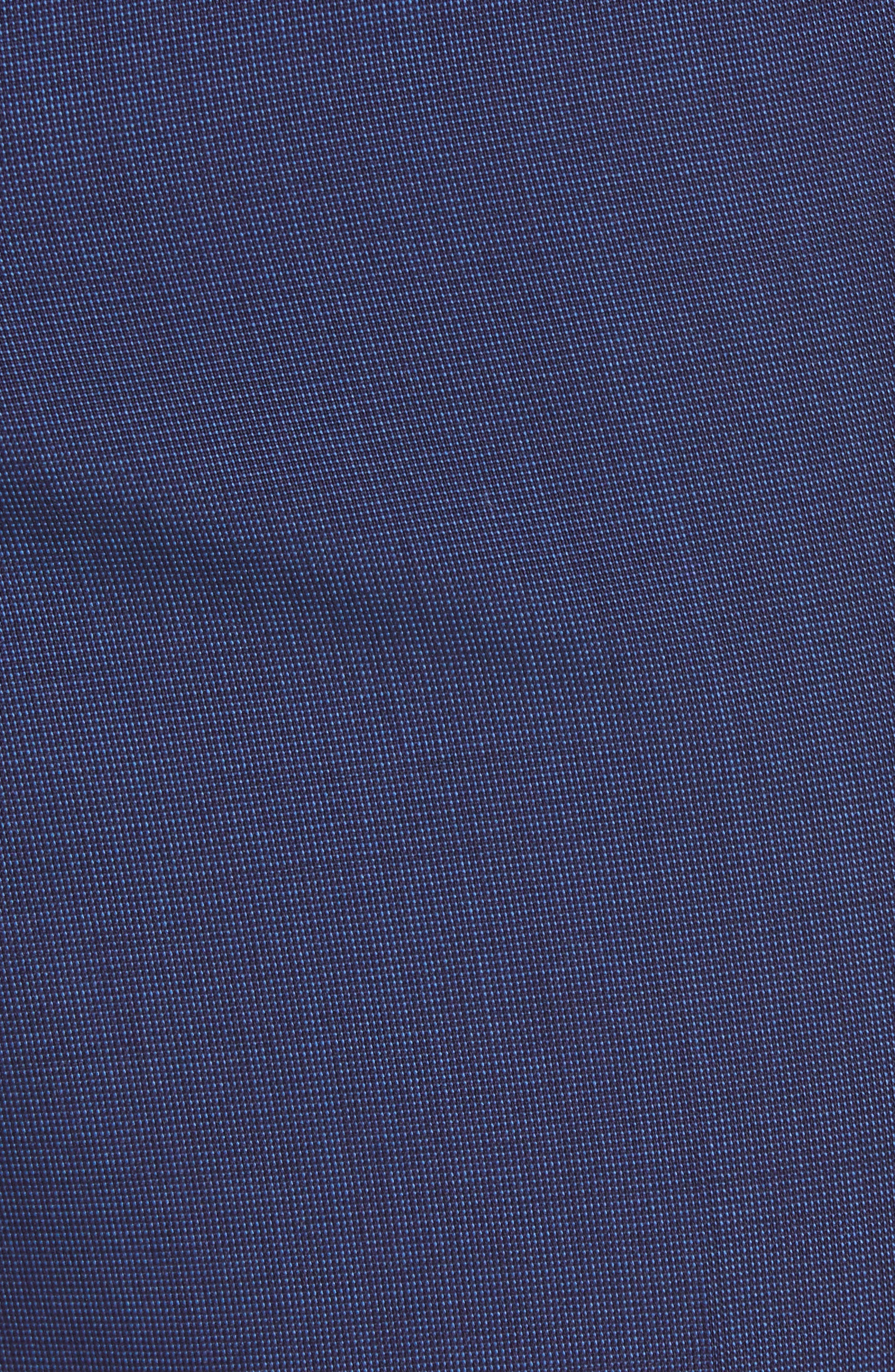 TED BAKER LONDON, Jefferson Flat Front Solid Wool Trousers, Alternate thumbnail 3, color, BLUE