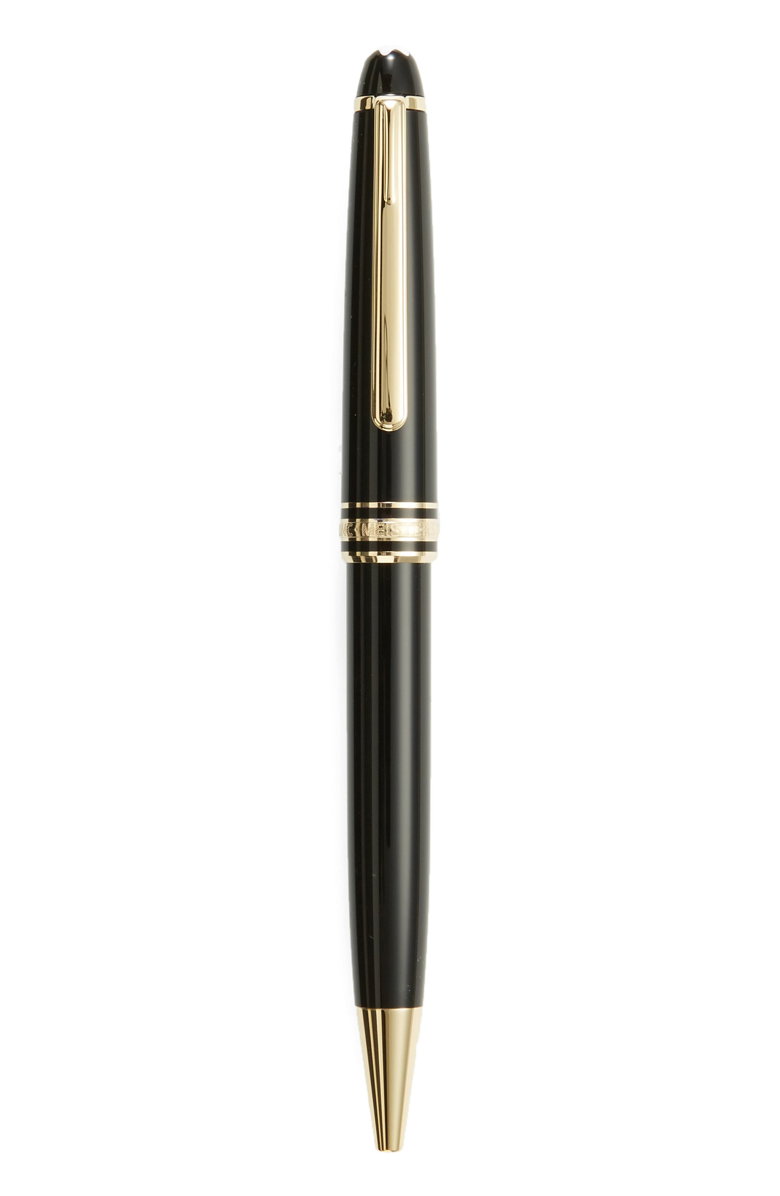 MONTBLANC Meisterstück Gold Coated Classique Ballpoint Pen, Main, color, BLACK