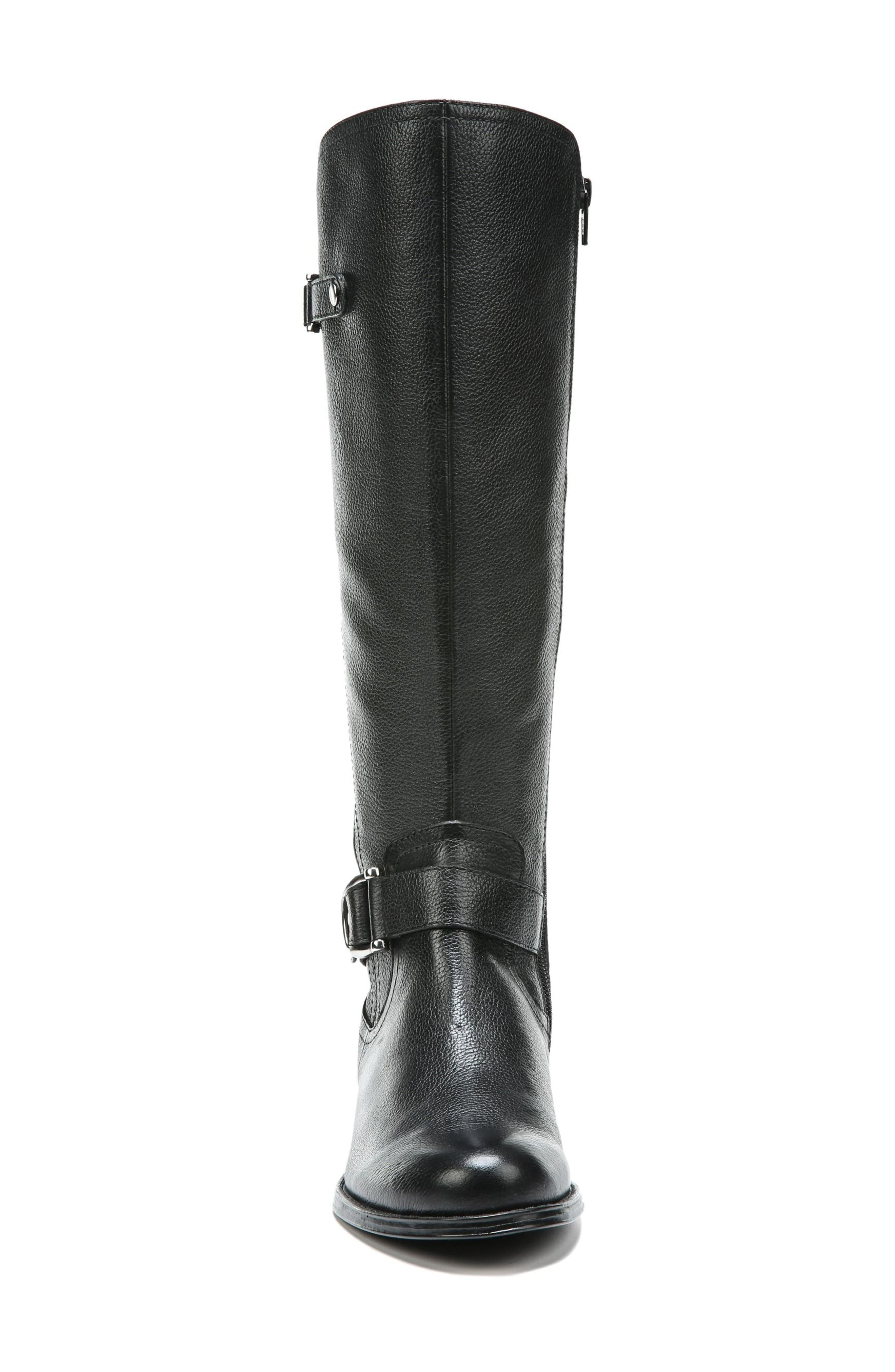 NATURALIZER, Jenelle Tall Boot, Alternate thumbnail 4, color, BLACK LEATHER
