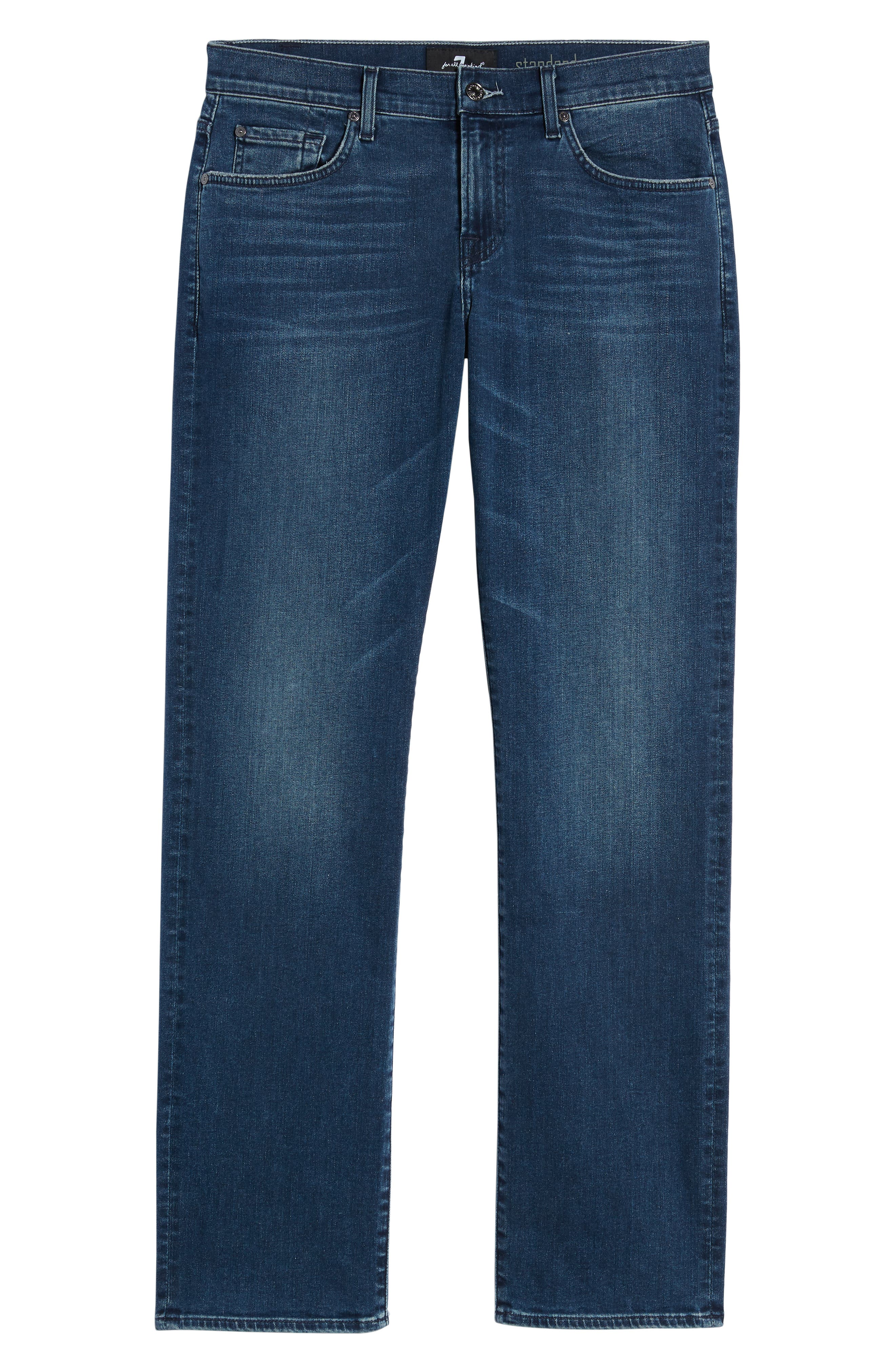 7 FOR ALL MANKIND<SUP>®</SUP>, Standard Straight Leg Jeans, Alternate thumbnail 6, color, INVINCIBLE