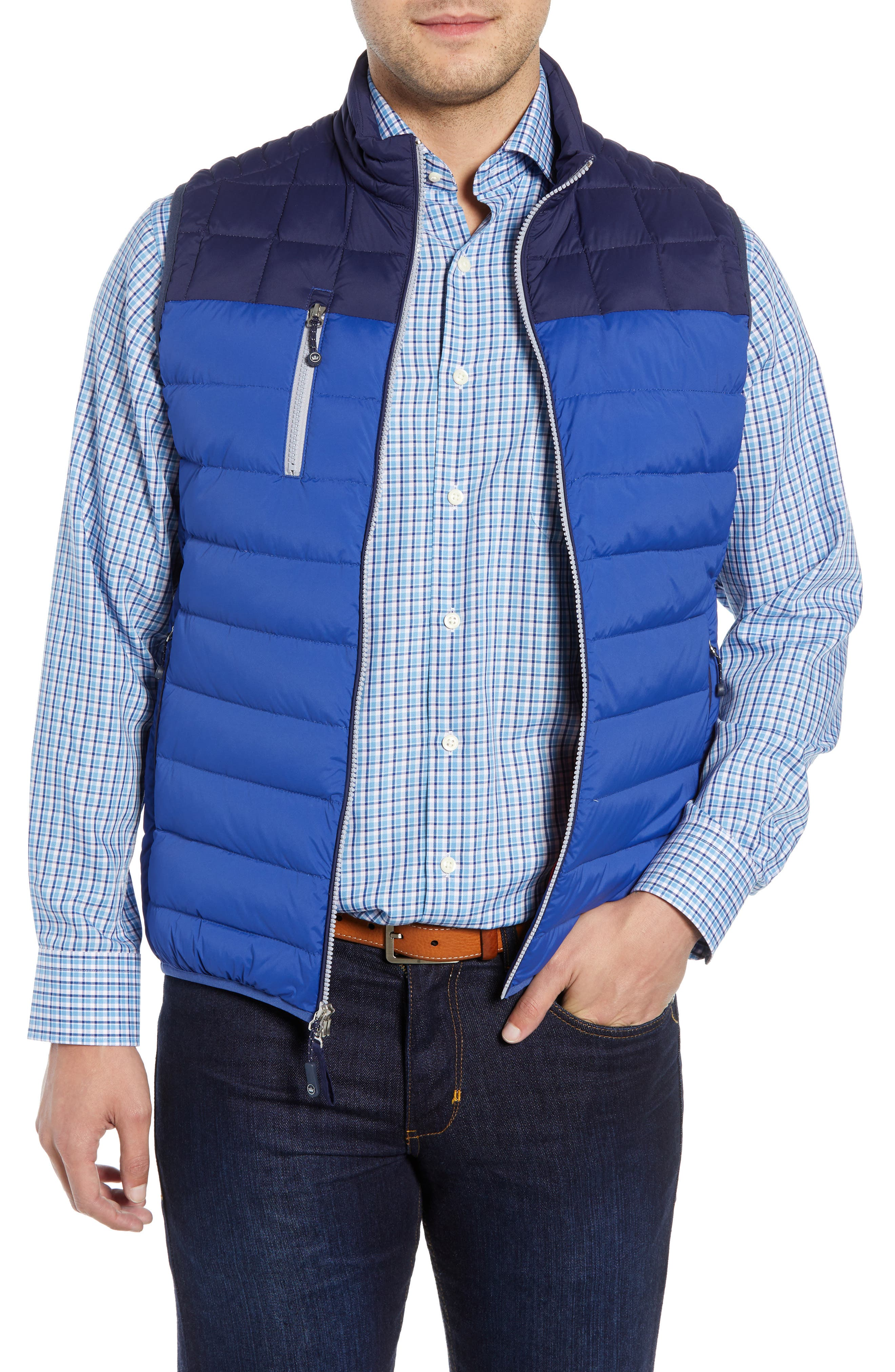 PETER MILLAR Sail Classic Fit Puffer Vest, Main, color, SAIL
