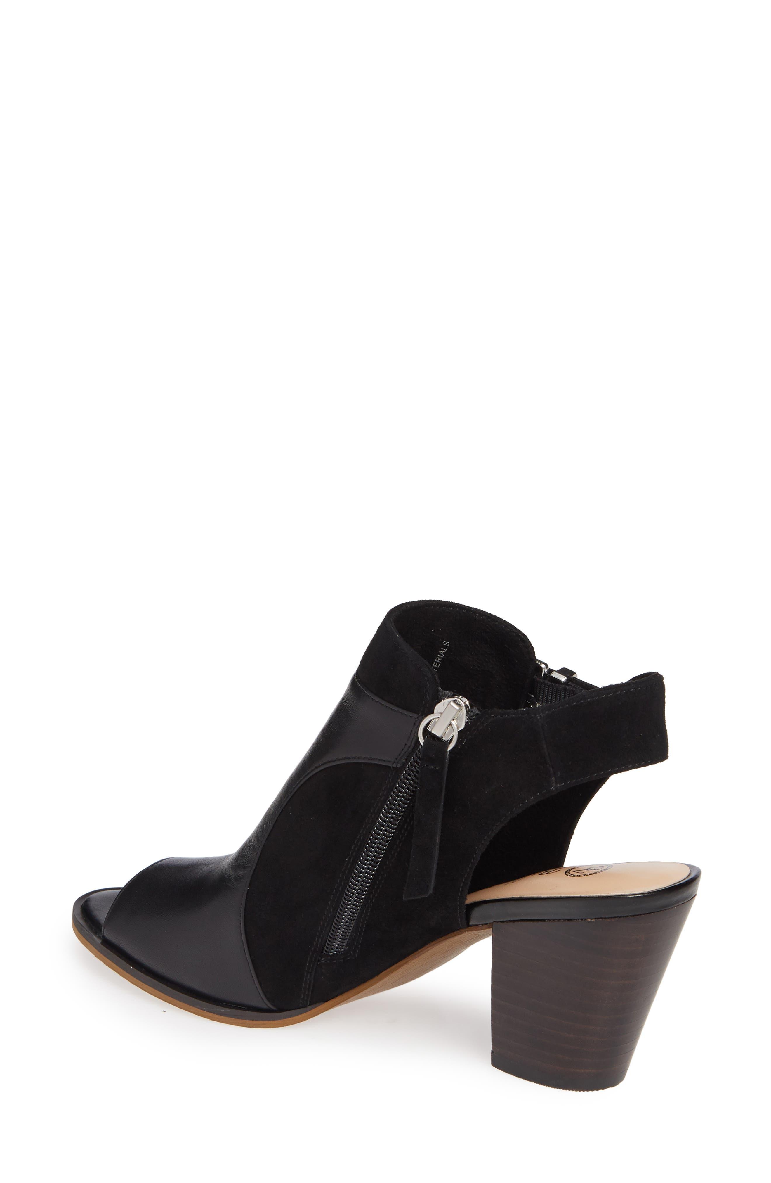 BELLA VITA, Kellan Mixed Finish Sandal, Alternate thumbnail 2, color, BLACK LEATHER/ SUEDE