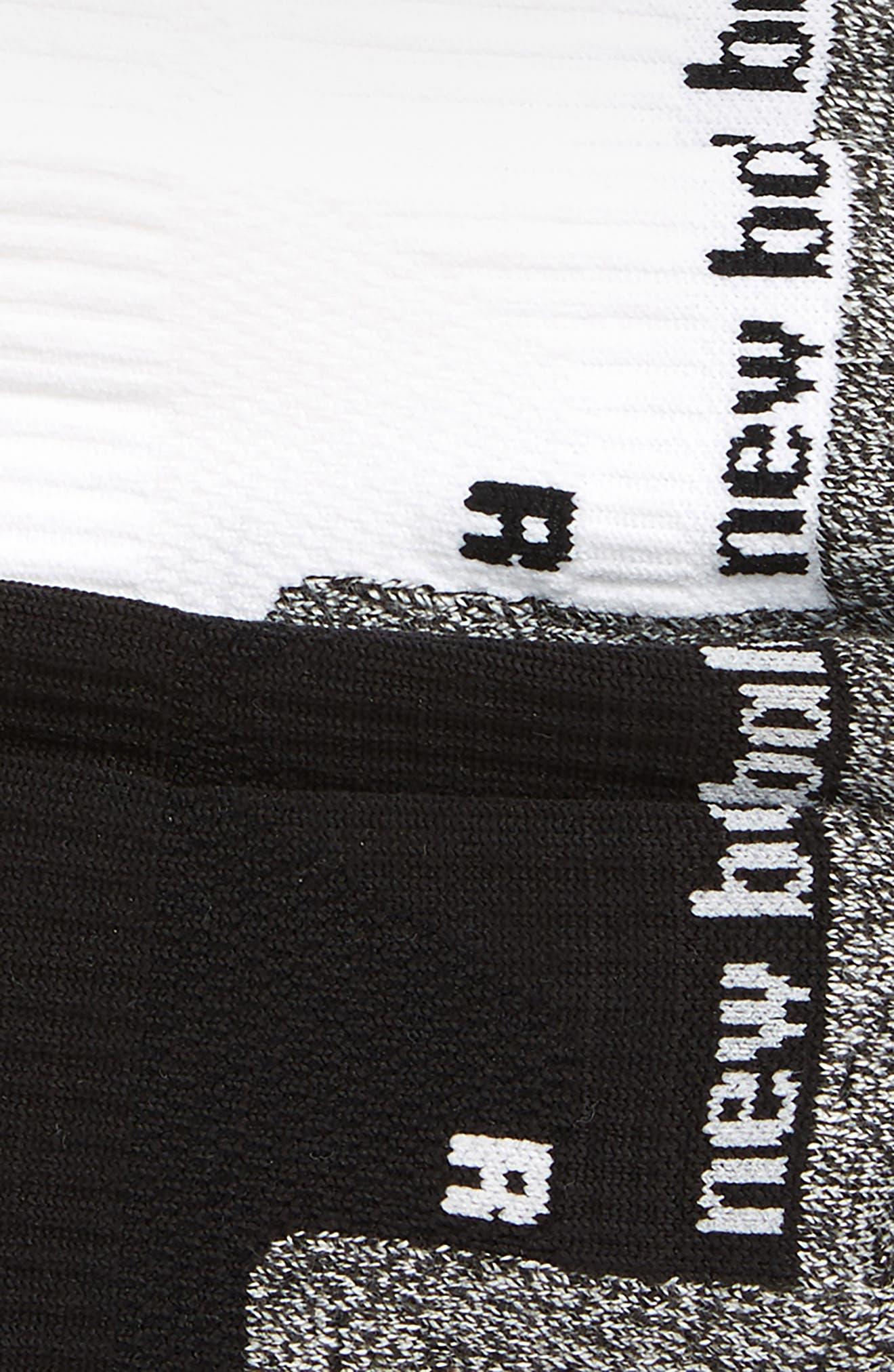 NEW BALANCE, Run Foundation 2-Pack Cushion Tab Socks, Alternate thumbnail 2, color, 001