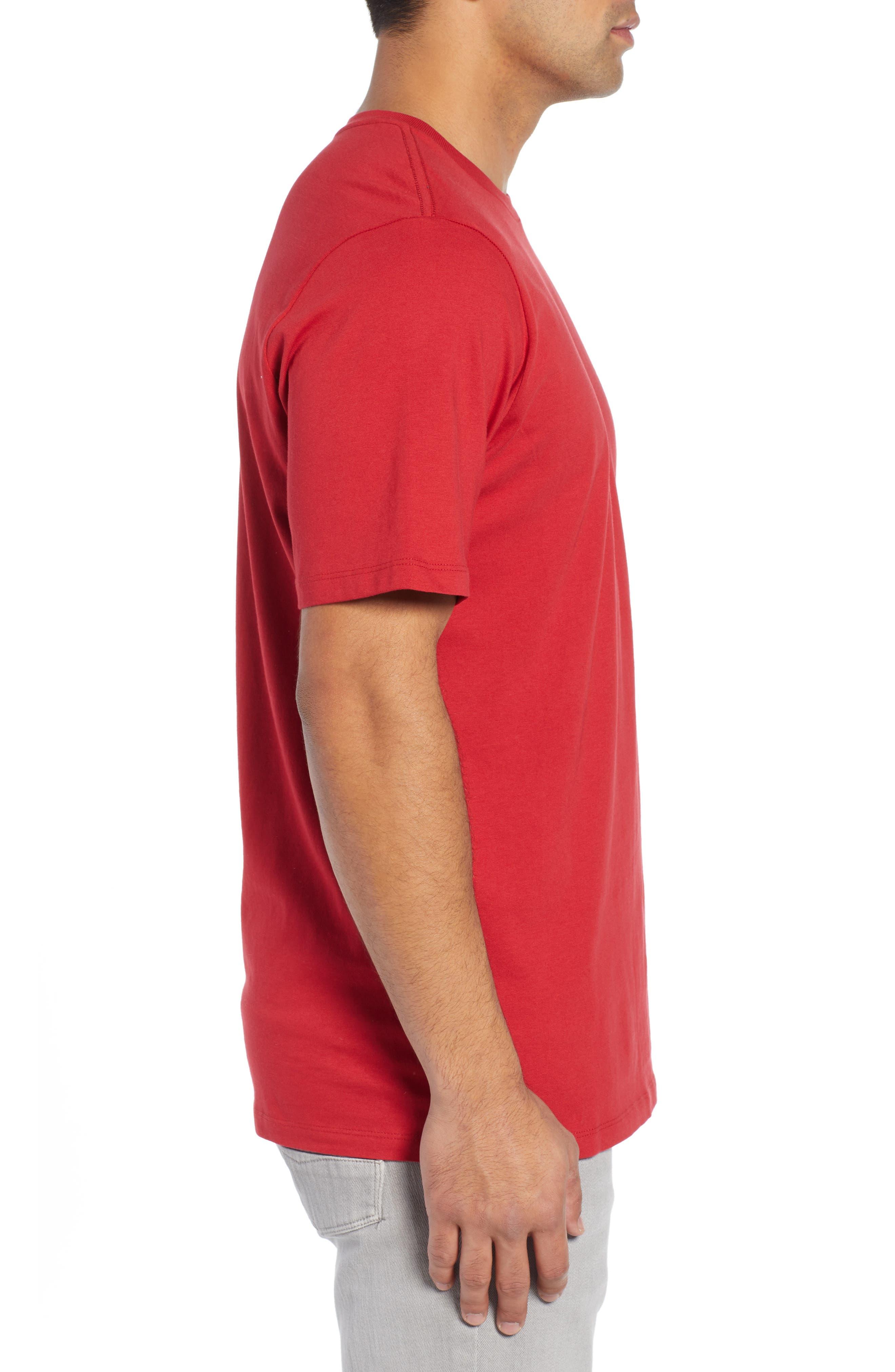 TOMMY BAHAMA, Alo-Ho Ho-Ha Graphic T-Shirt, Alternate thumbnail 3, color, SCOOTER RED