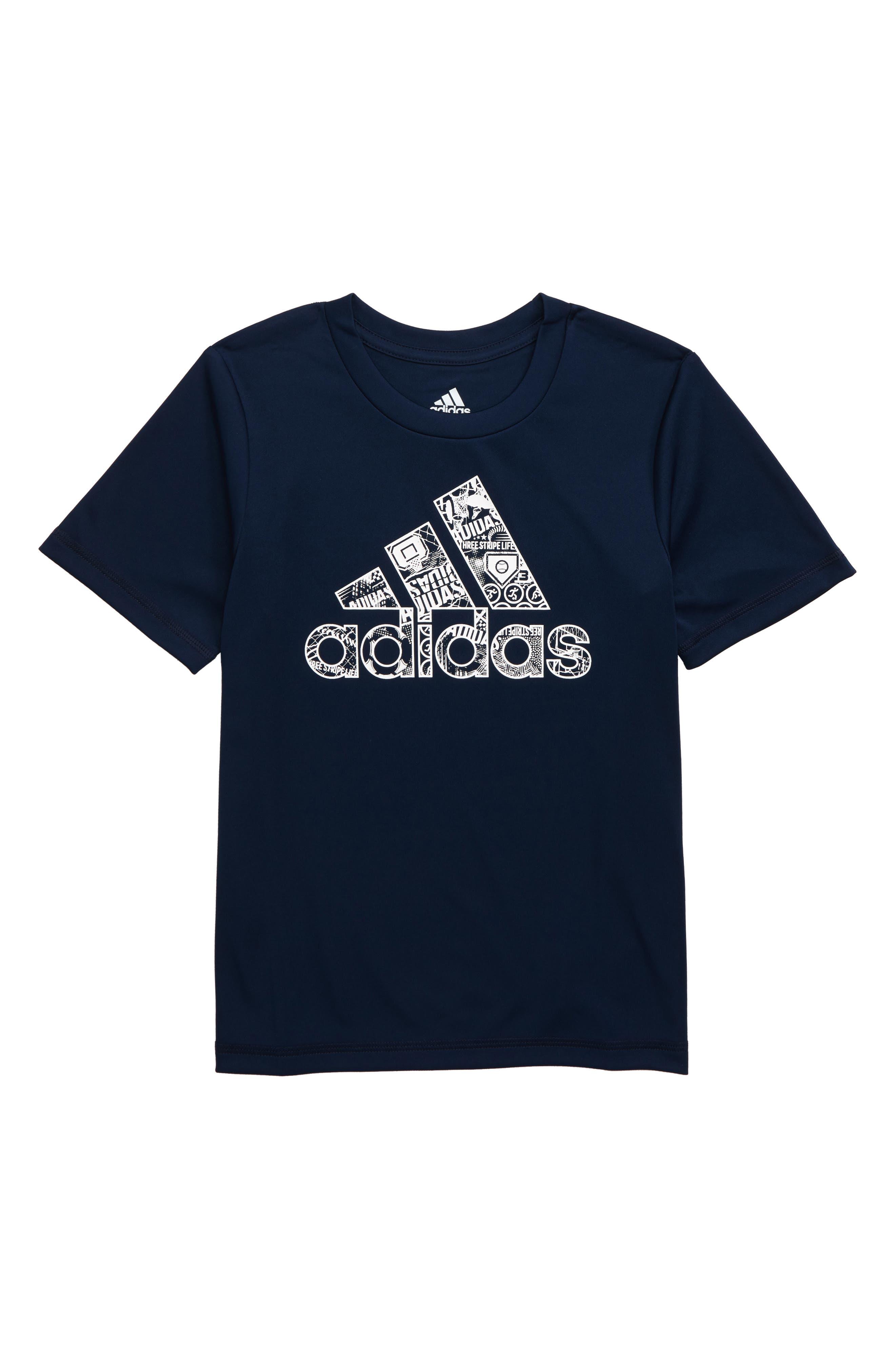 ADIDAS, Multi Sport T-Shirt, Main thumbnail 1, color, NAVY