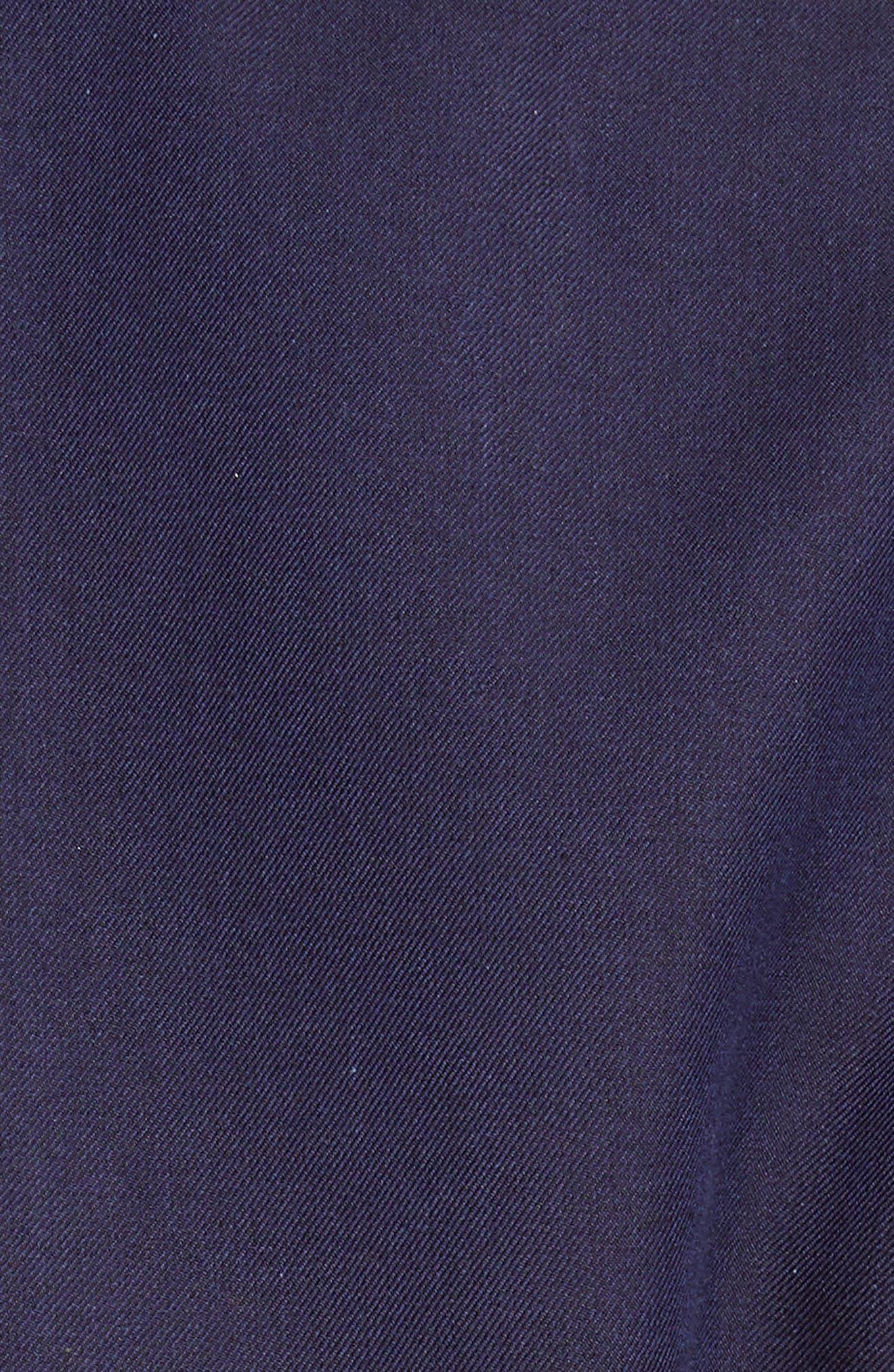 TRICOT COMME DES GARÇONS, Gabardine Blazer with Print Lining, Alternate thumbnail 6, color, NAVY