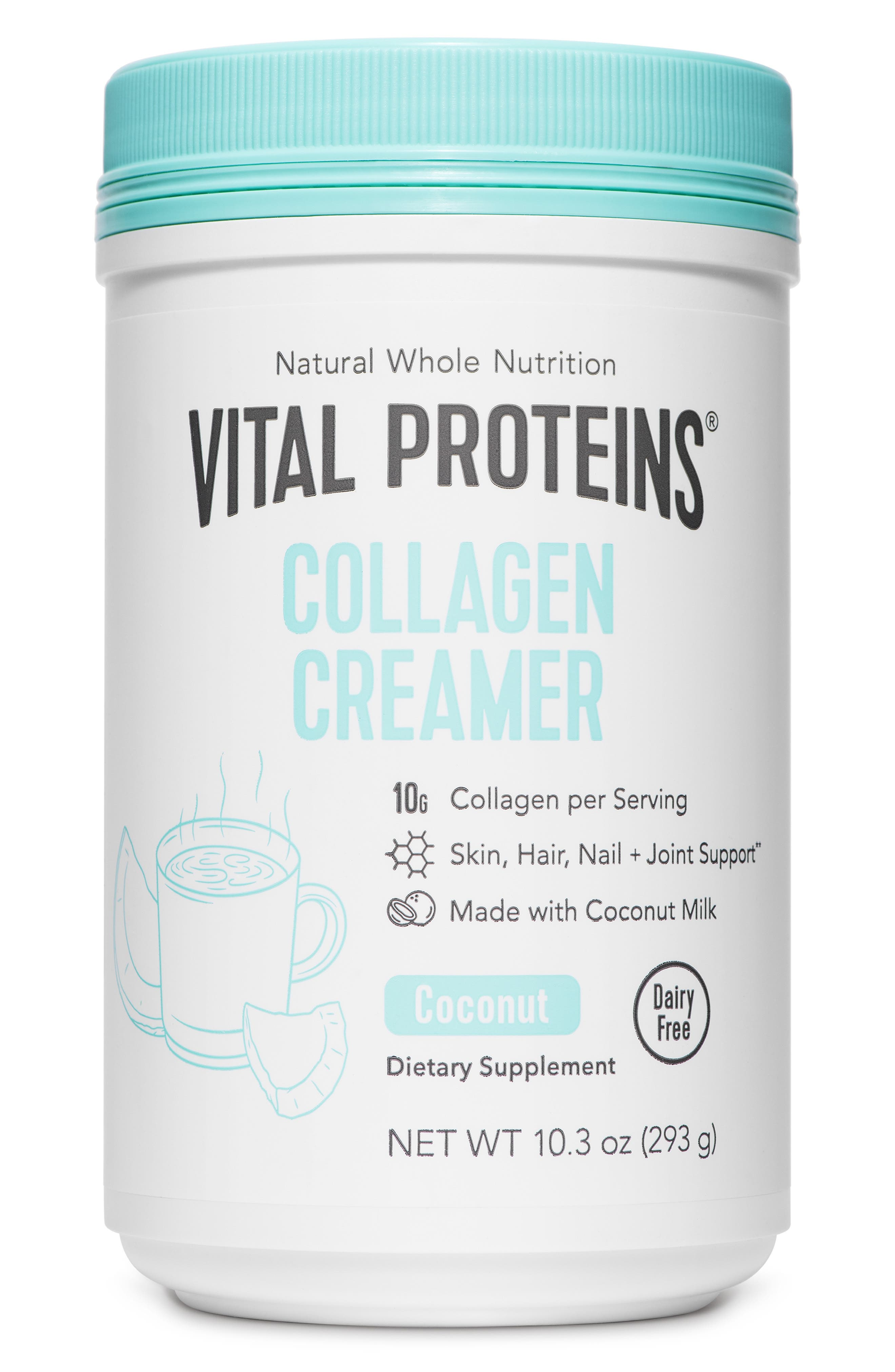 VITAL PROTEINS, Collagen Creamer Vanilla Dietary Supplement, Main thumbnail 1, color, 100