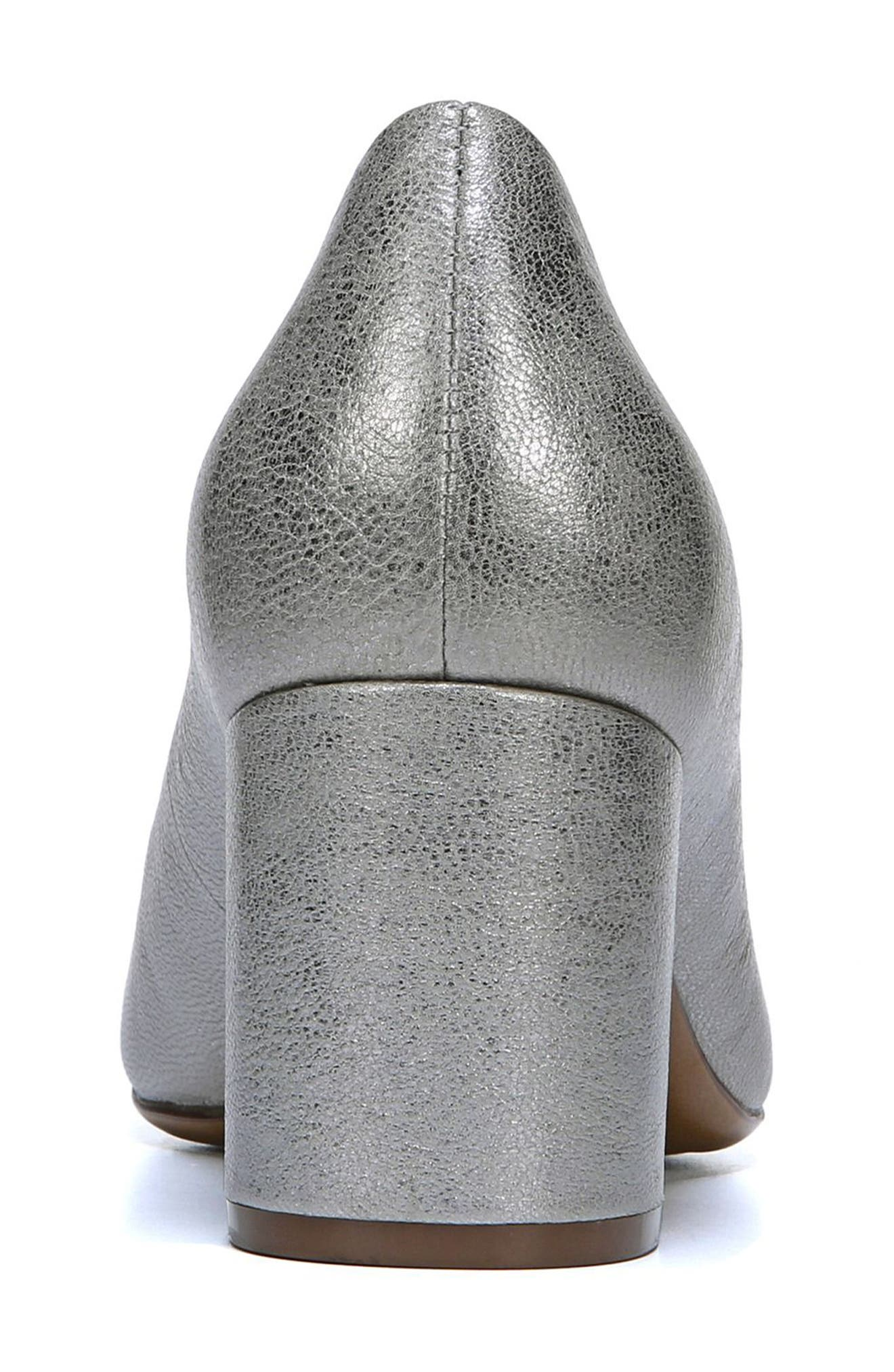 NATURALIZER, Whitney Pump, Alternate thumbnail 8, color, SILVER LEATHER