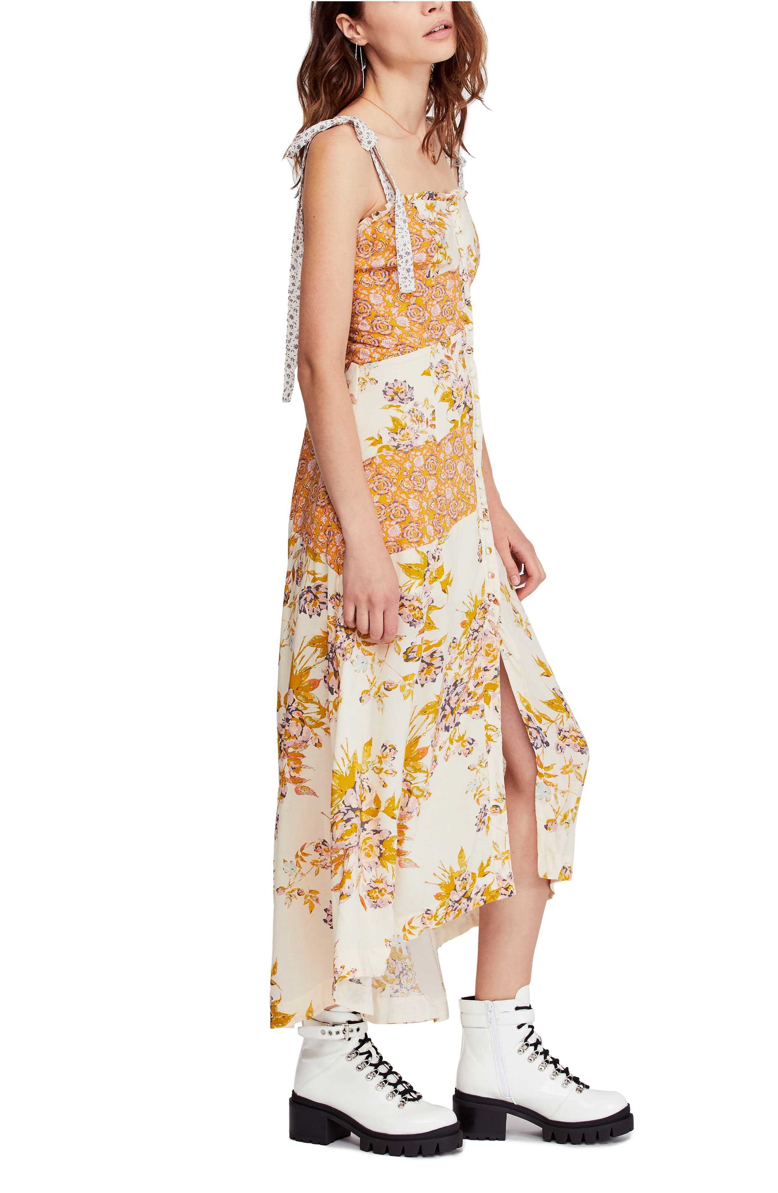 FREE PEOPLE, Lover Boy Maxi Dress, Alternate thumbnail 4, color, NEUTRAL COMBO