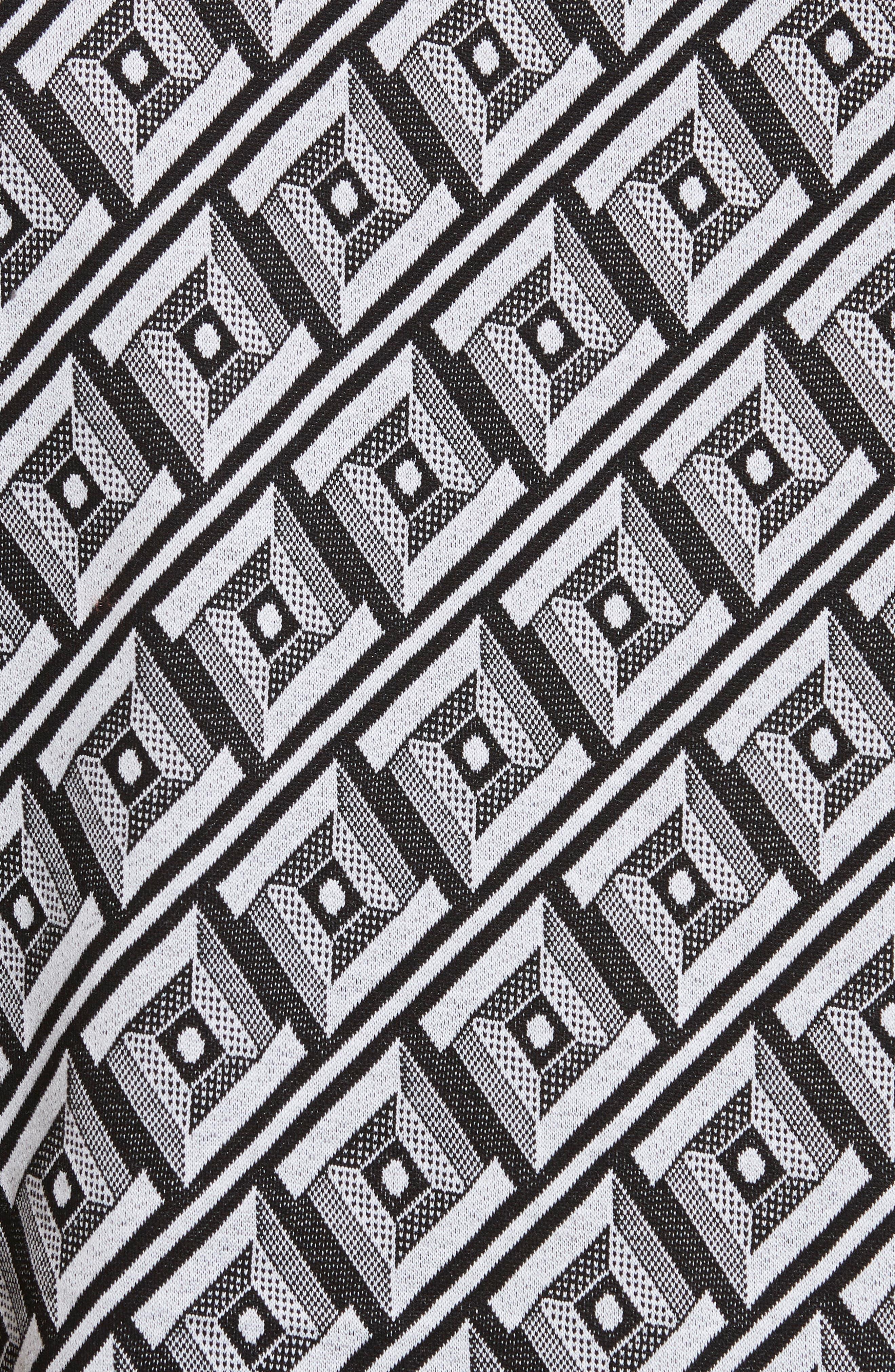 VERSACE COLLECTION, Geometric Print Polo, Alternate thumbnail 5, color, 100