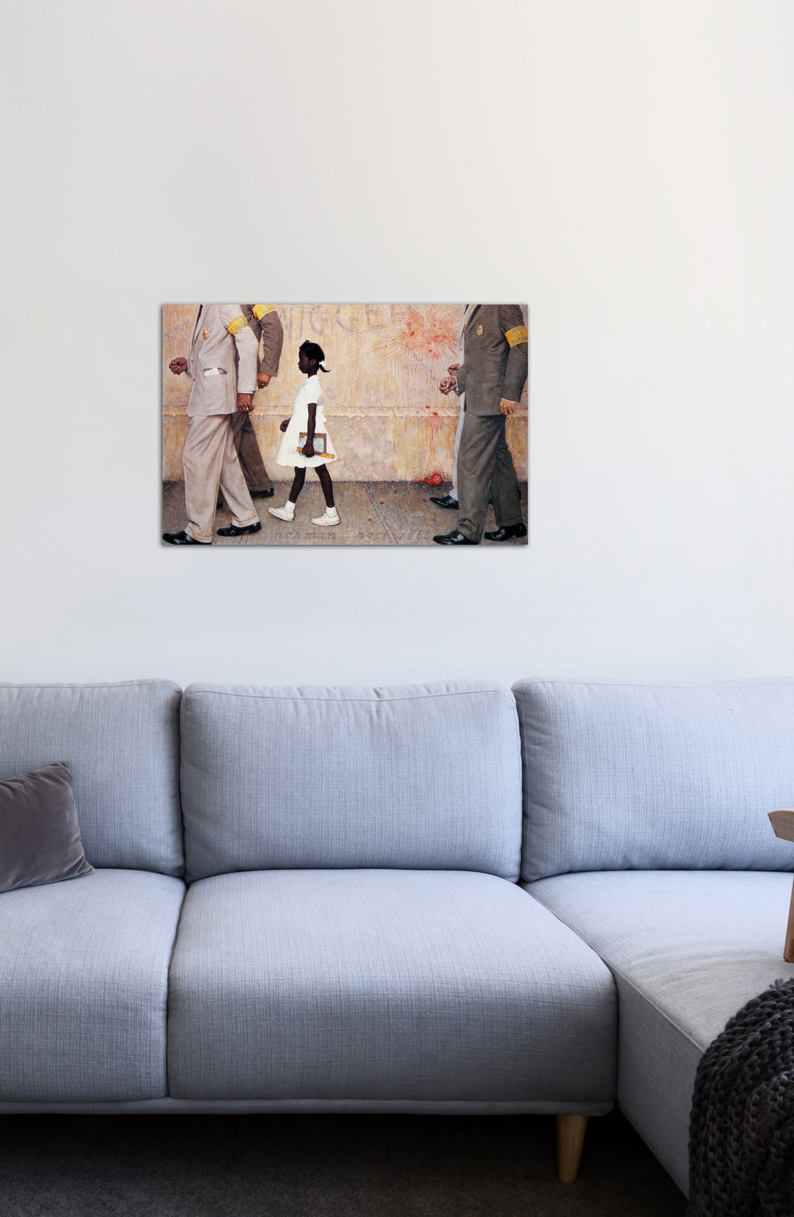 ICANVAS, The Problem We All Live With Giclée Print Canvas Art, Alternate thumbnail 2, color, IVORY