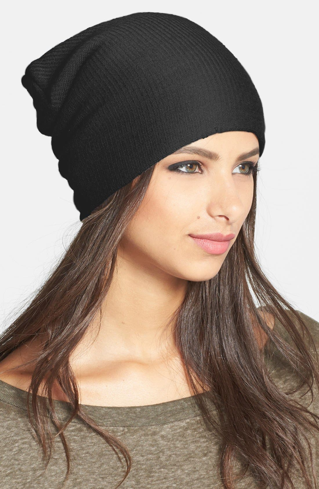 ECHO, 'Milk Made' Slouchy Hat, Main thumbnail 1, color, 001