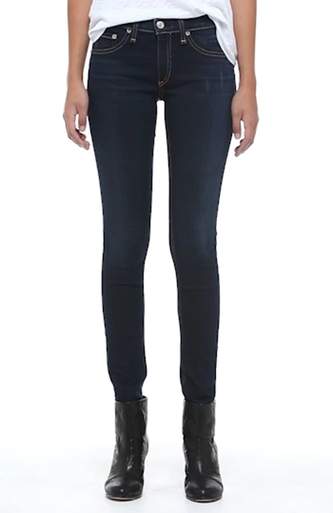 RAG & BONE, Skinny Stretch Jeans, Alternate thumbnail 11, color, BEDFORD