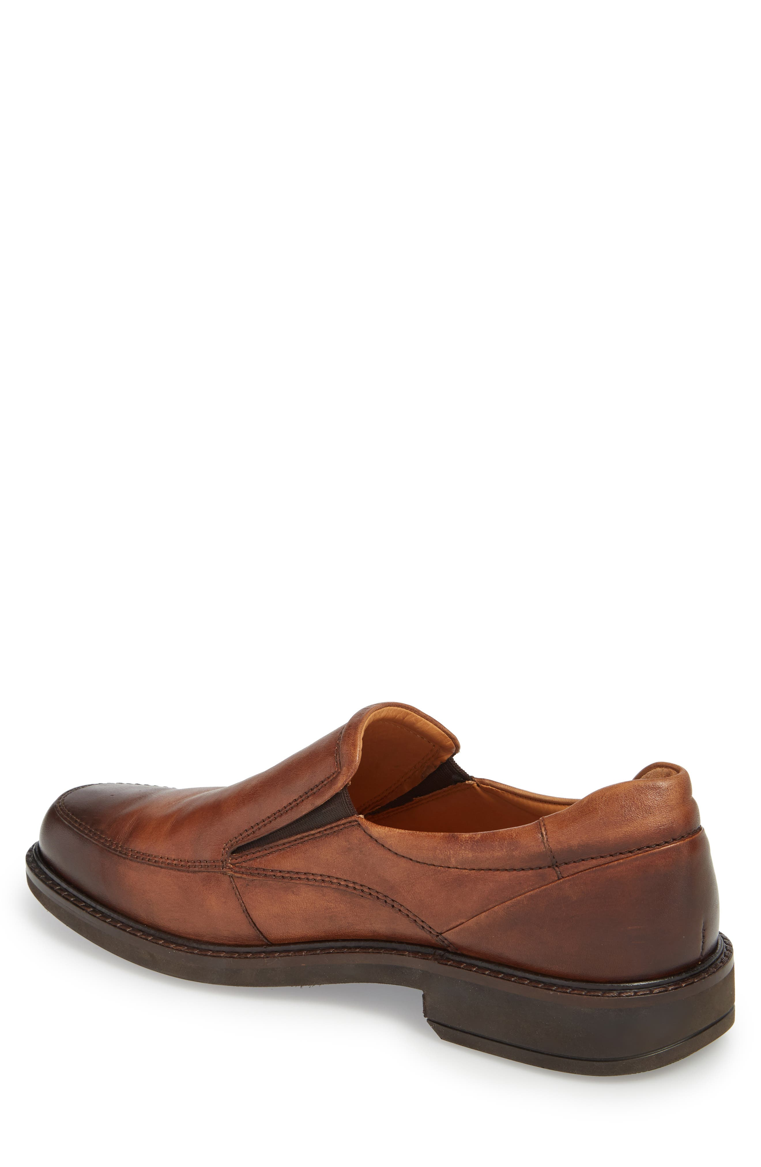 ECCO, Holton Slip-On, Alternate thumbnail 2, color, BROWN LEATHER