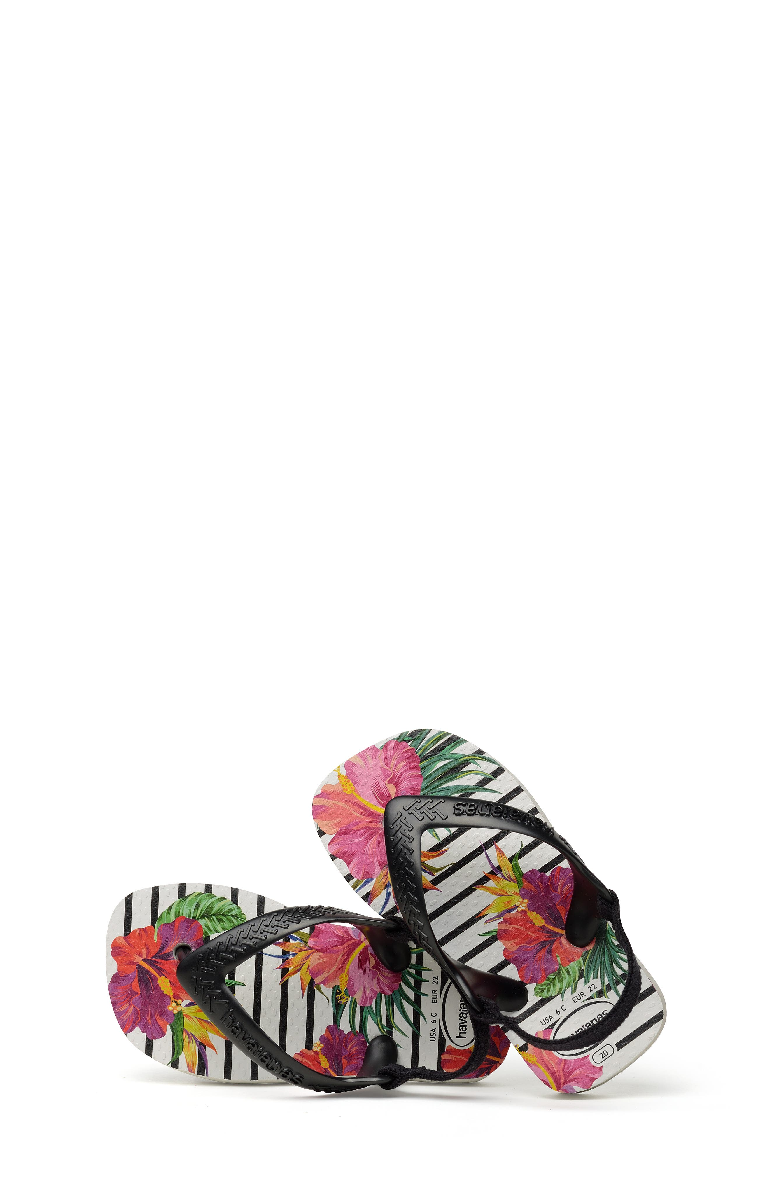 HAVAIANAS, Havianas Baby Chic Sandal, Alternate thumbnail 7, color, WHITE