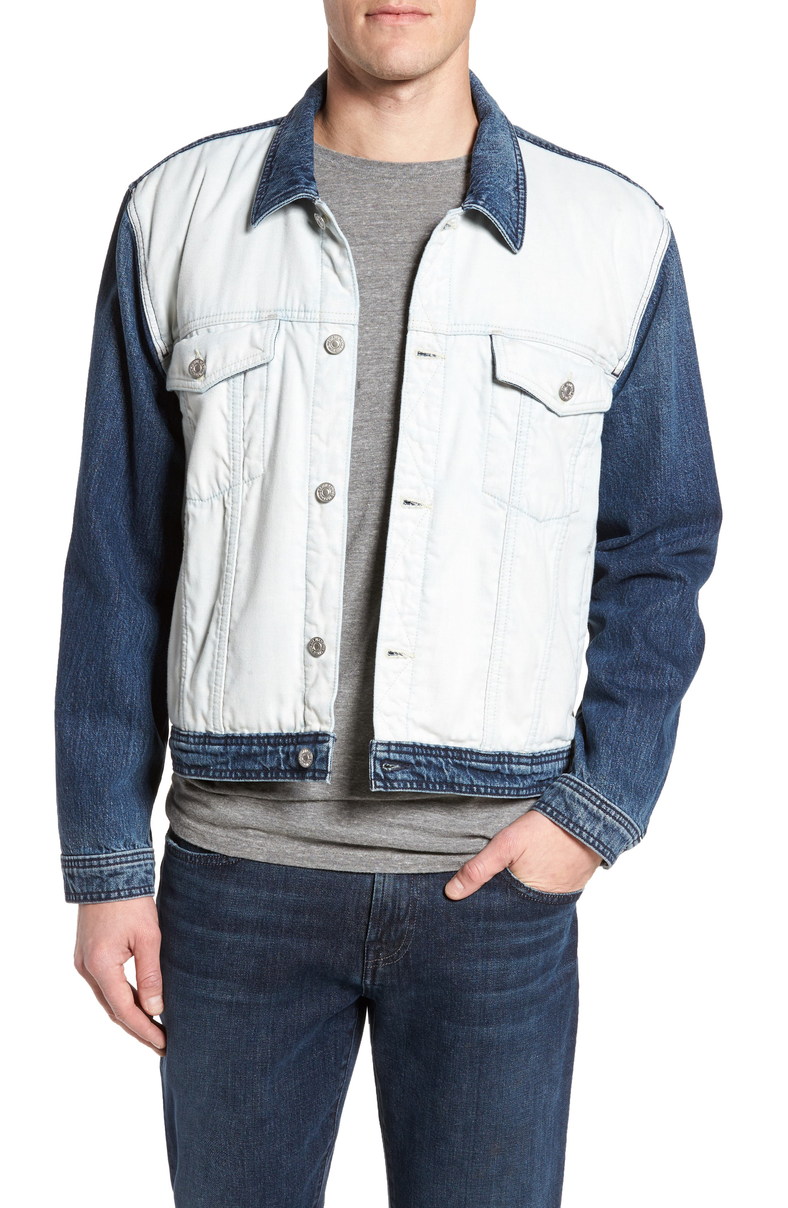 7 FOR ALL MANKIND<SUP>®</SUP>, Inside Out Trucker Jacket, Main thumbnail 1, color, VINTAGE BLUE