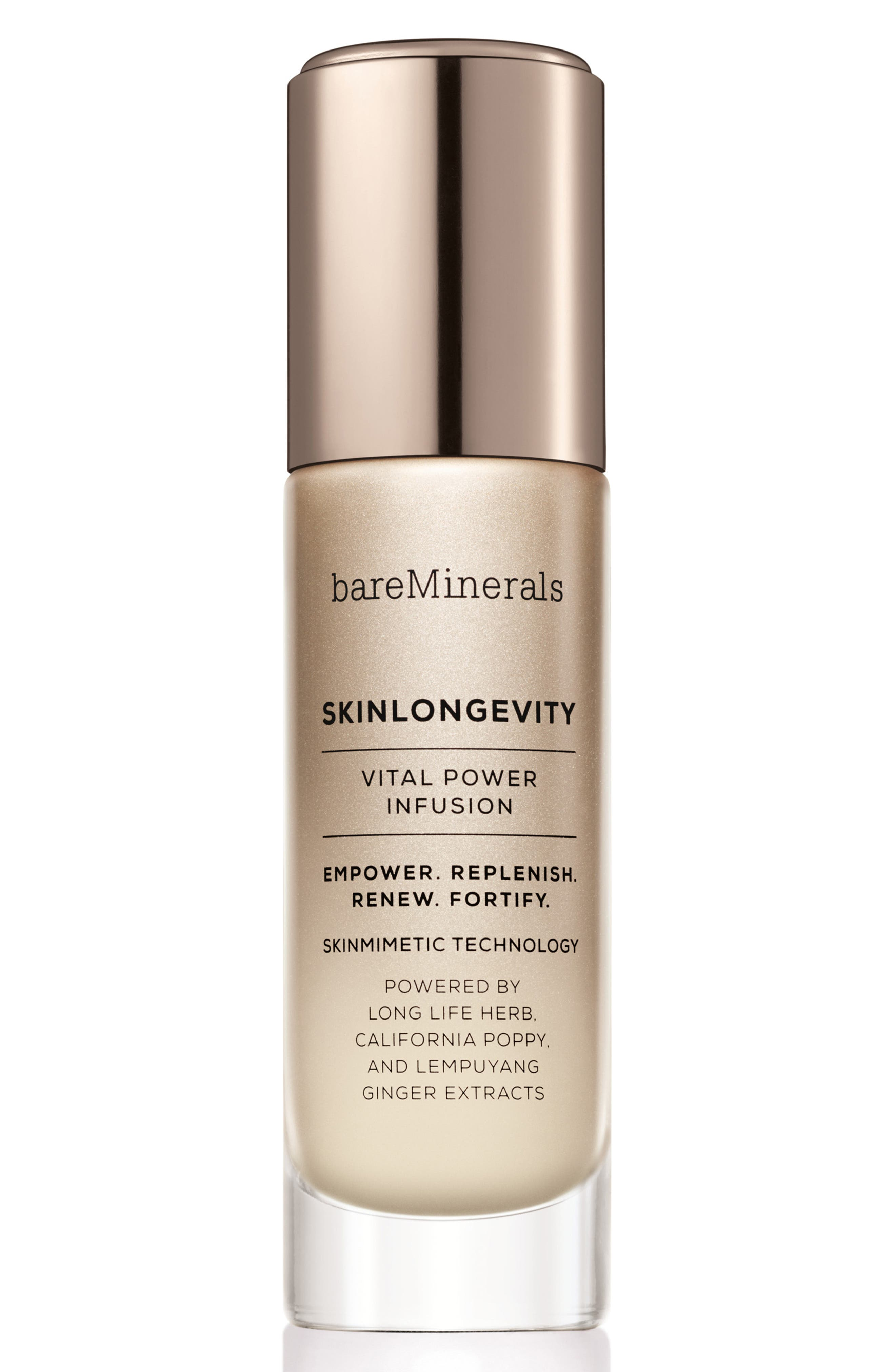 BAREMINERALS<SUP>®</SUP> SKINLONGEVITY<sup>™</sup> Vital Power Infusion Serum, Main, color, NO COLOR