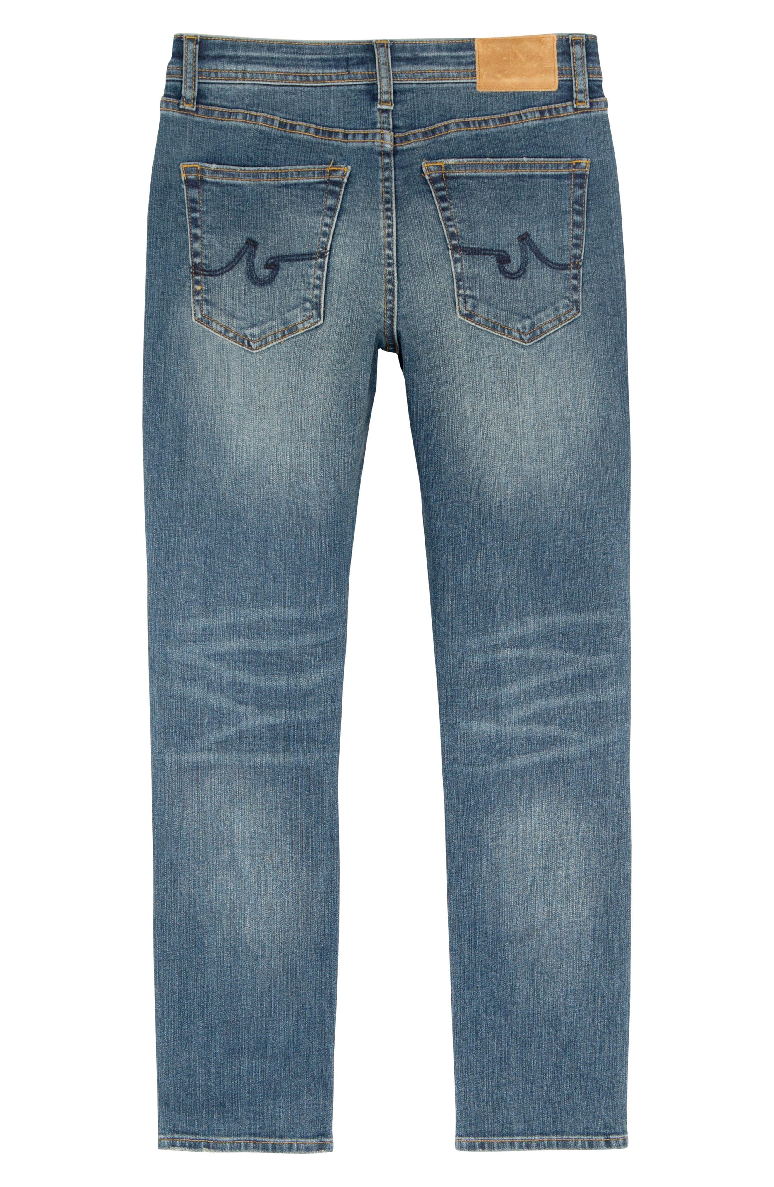 AG ADRIANO GOLDSCHMIED KIDS, The Stryker Slim Straight Leg Jeans, Alternate thumbnail 2, color, HIPPIE SKY
