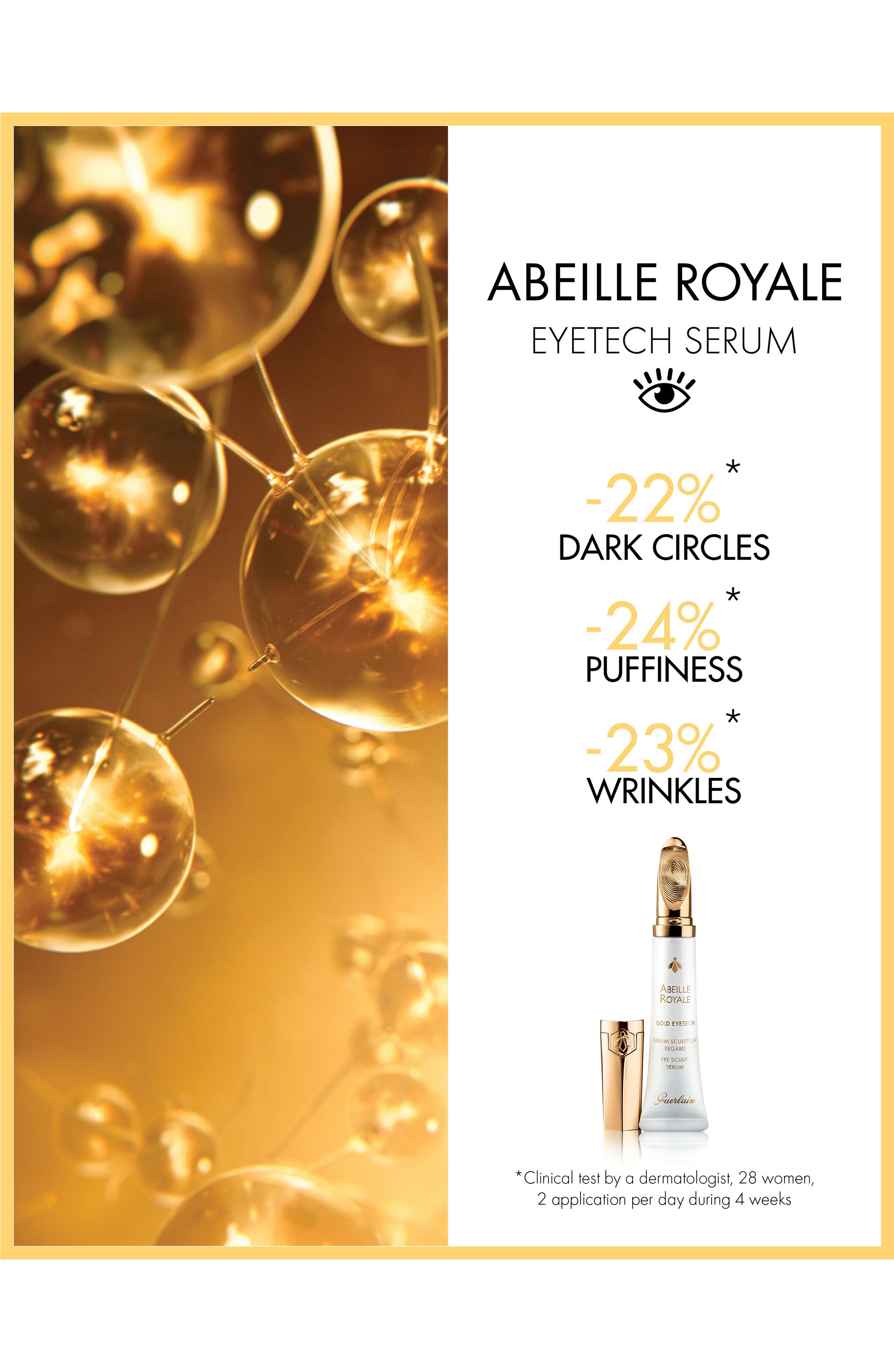 GUERLAIN, Abeille Royale - Gold Eyetech Eye Sculpt Serum, Alternate thumbnail 5, color, NO COLOR