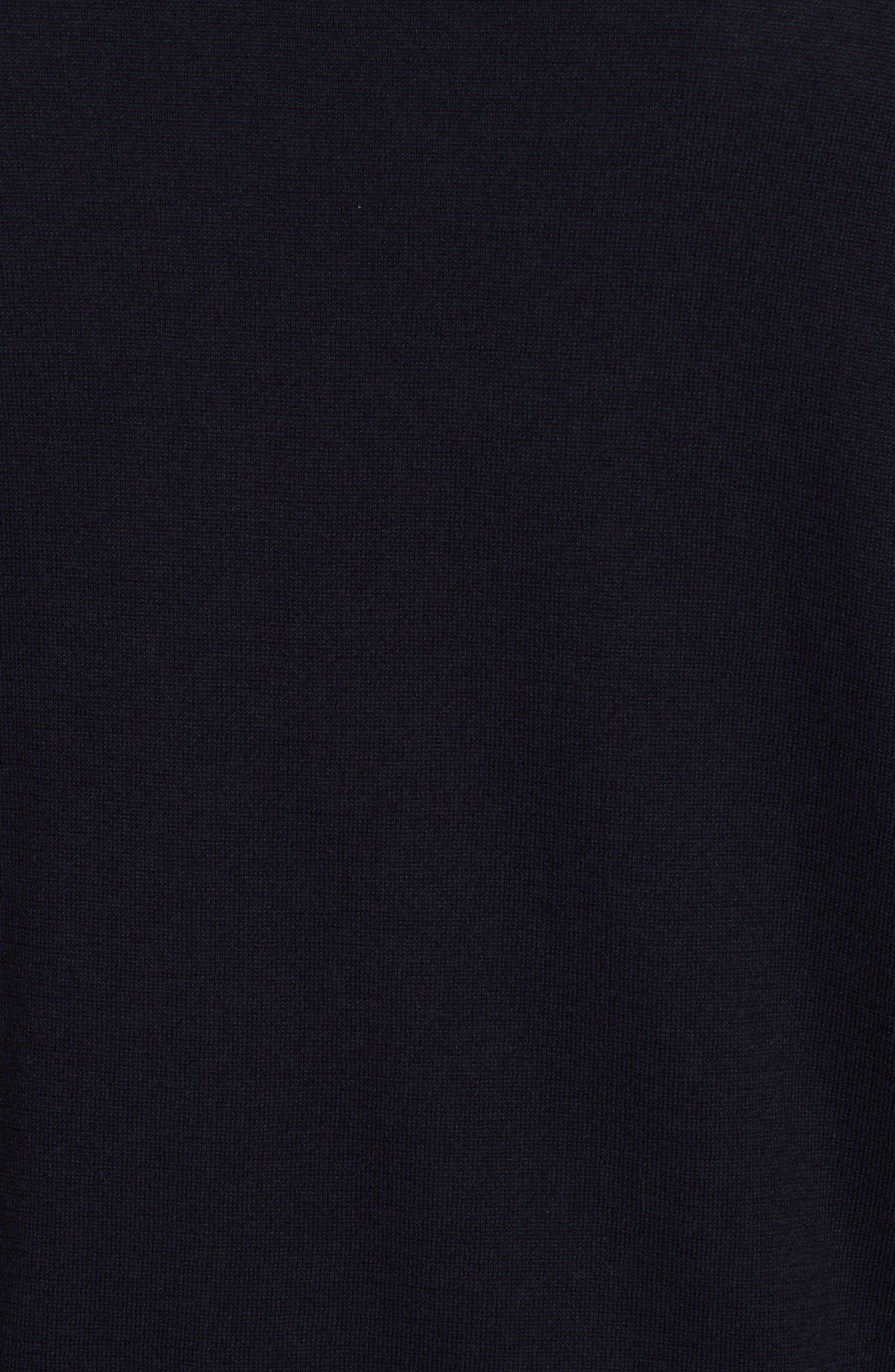 COMME DES GARÇONS PLAY, Cotton Logo Sweater, Alternate thumbnail 5, color, NAVY