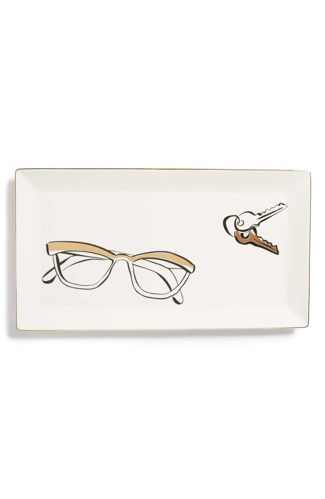 KATE SPADE NEW YORK, 'eyeglasses' trinket tray, Main thumbnail 1, color, 100