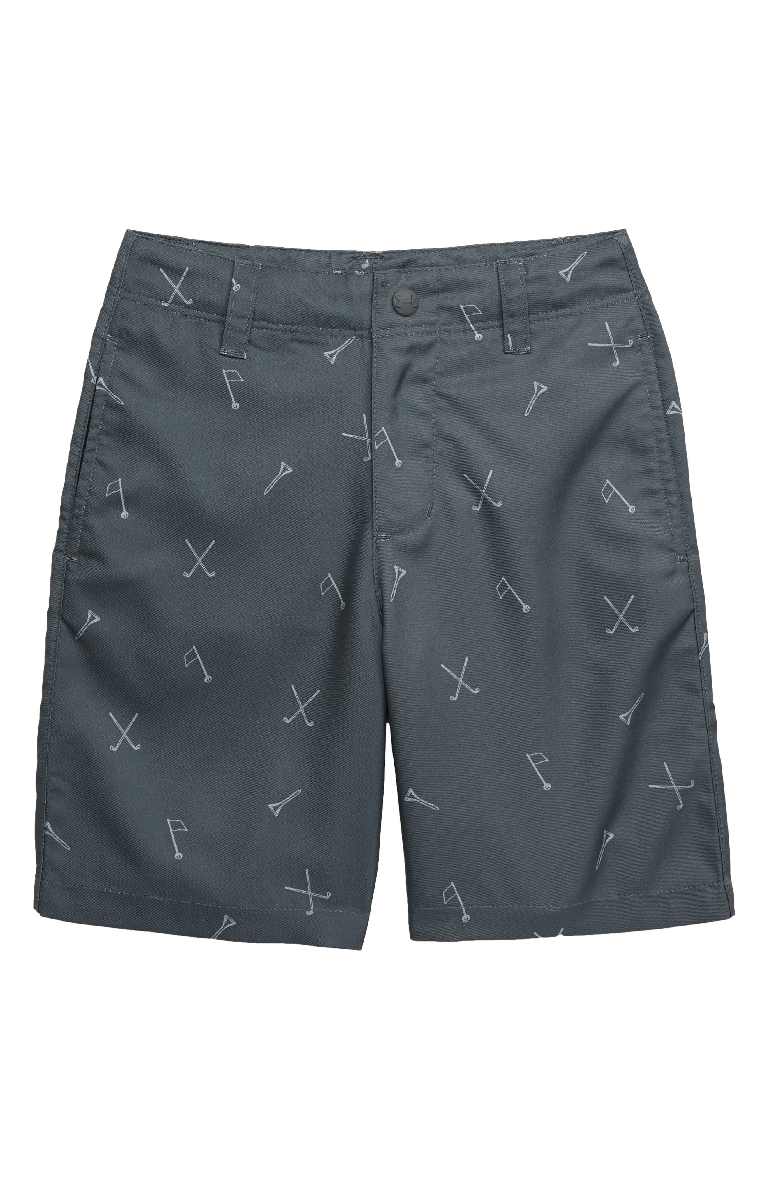 UNDER ARMOUR, Golf Icons HeatGear<sup>®</sup> Golf Shorts, Main thumbnail 1, color, PITCH GRAY