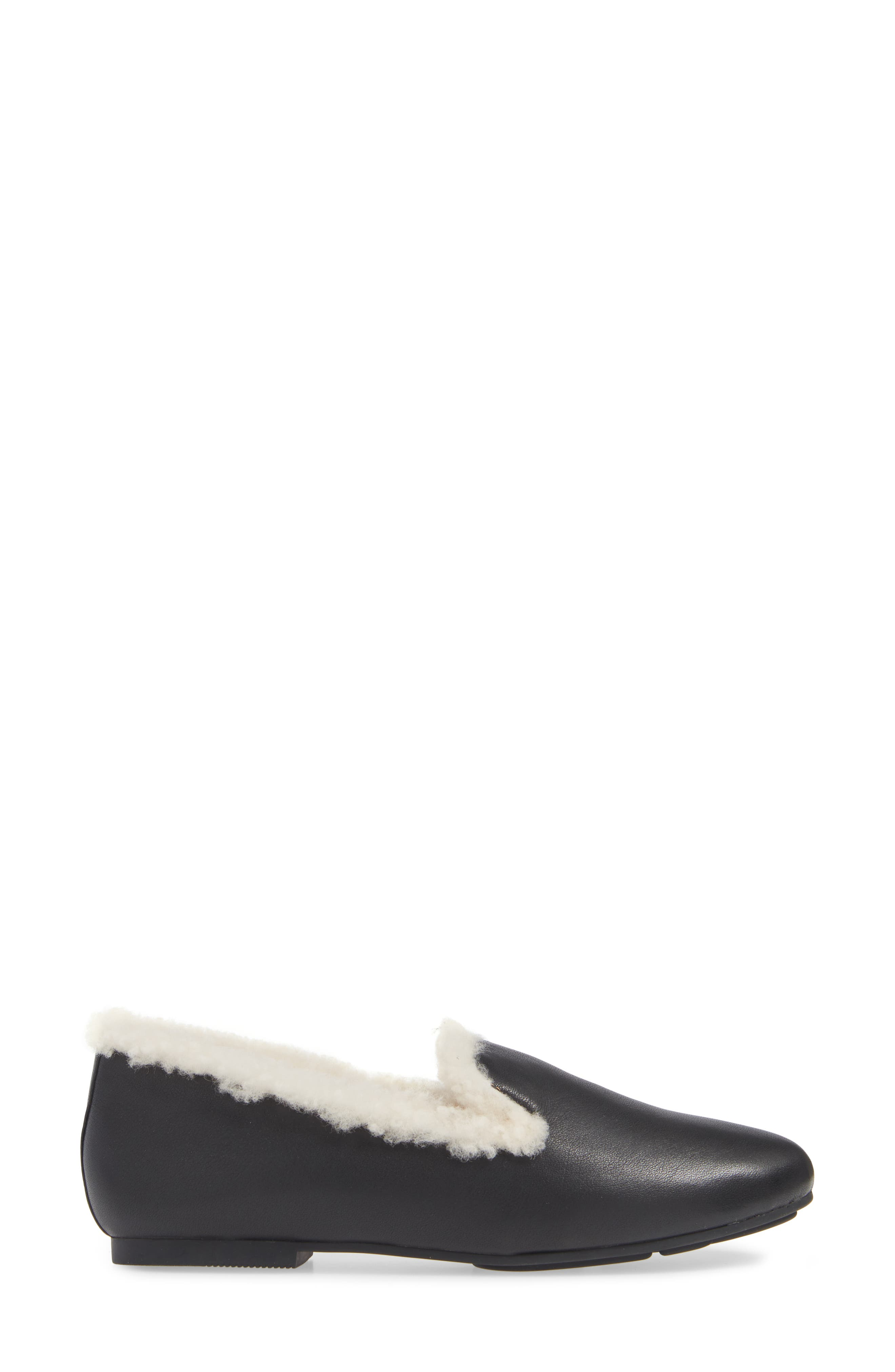 GENTLE SOULS BY KENNETH COLE, Eugene Genuine Shearling Lined Loafer, Alternate thumbnail 3, color, 011