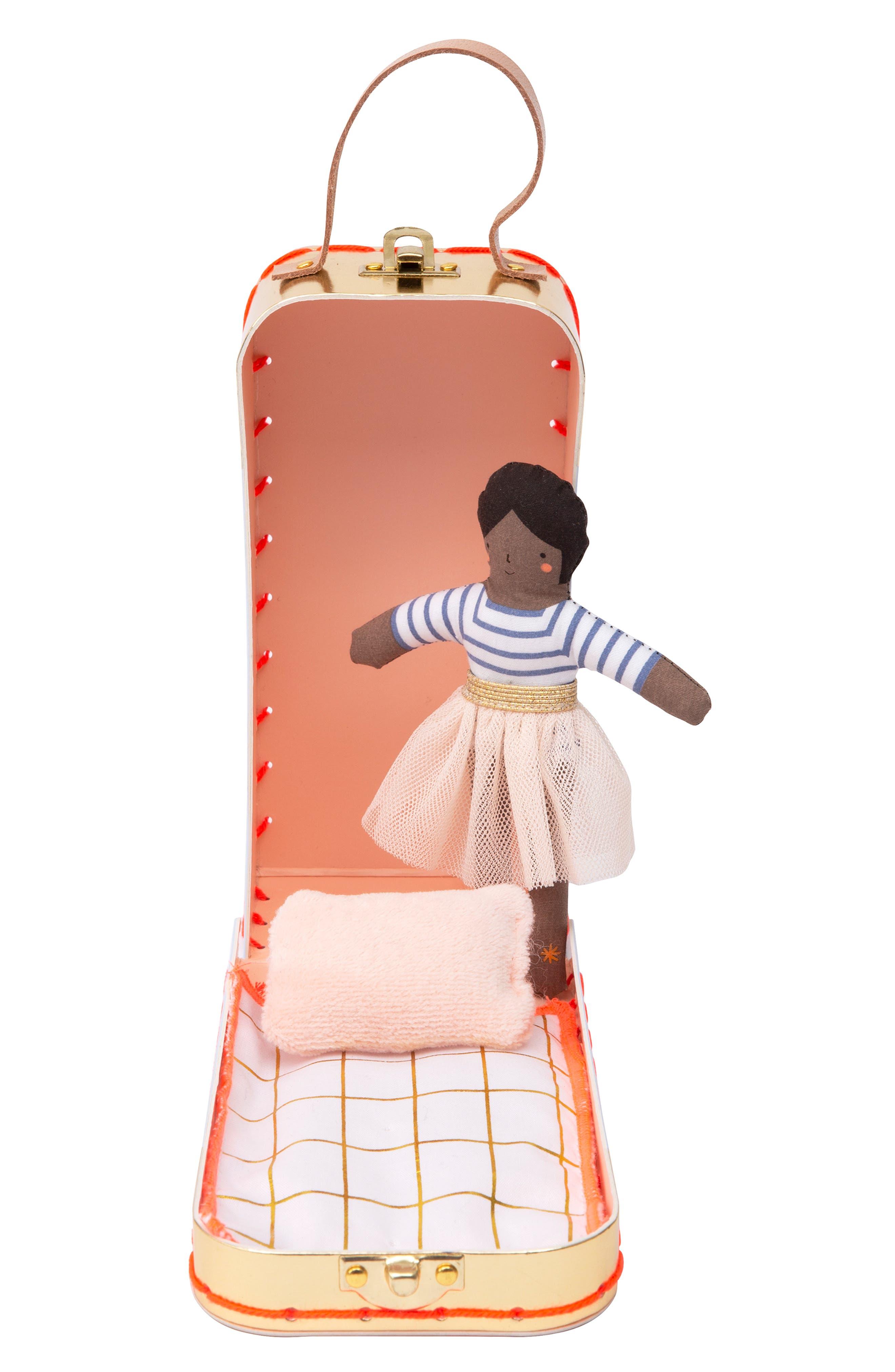 Girls Meri Meri Mini Ruby Doll  Suitcase Set