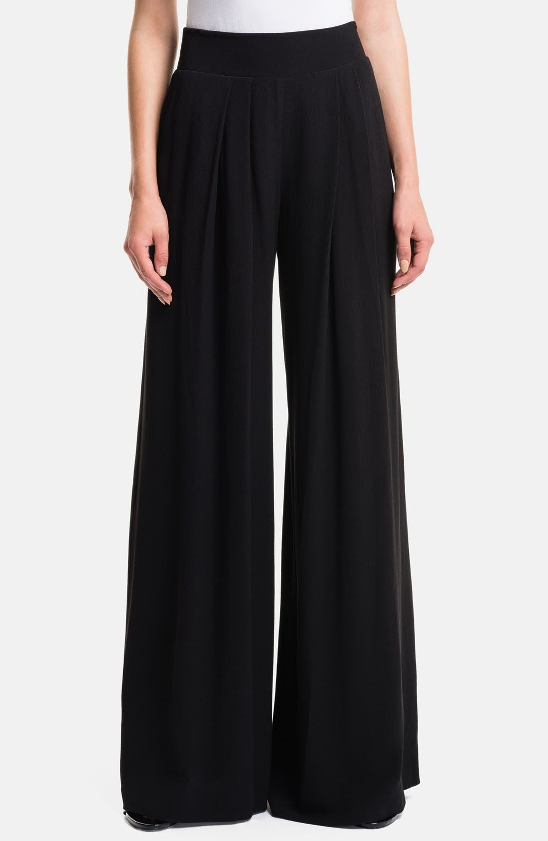 1.STATE, High Waist Wide Leg Trousers, Main thumbnail 1, color, 001