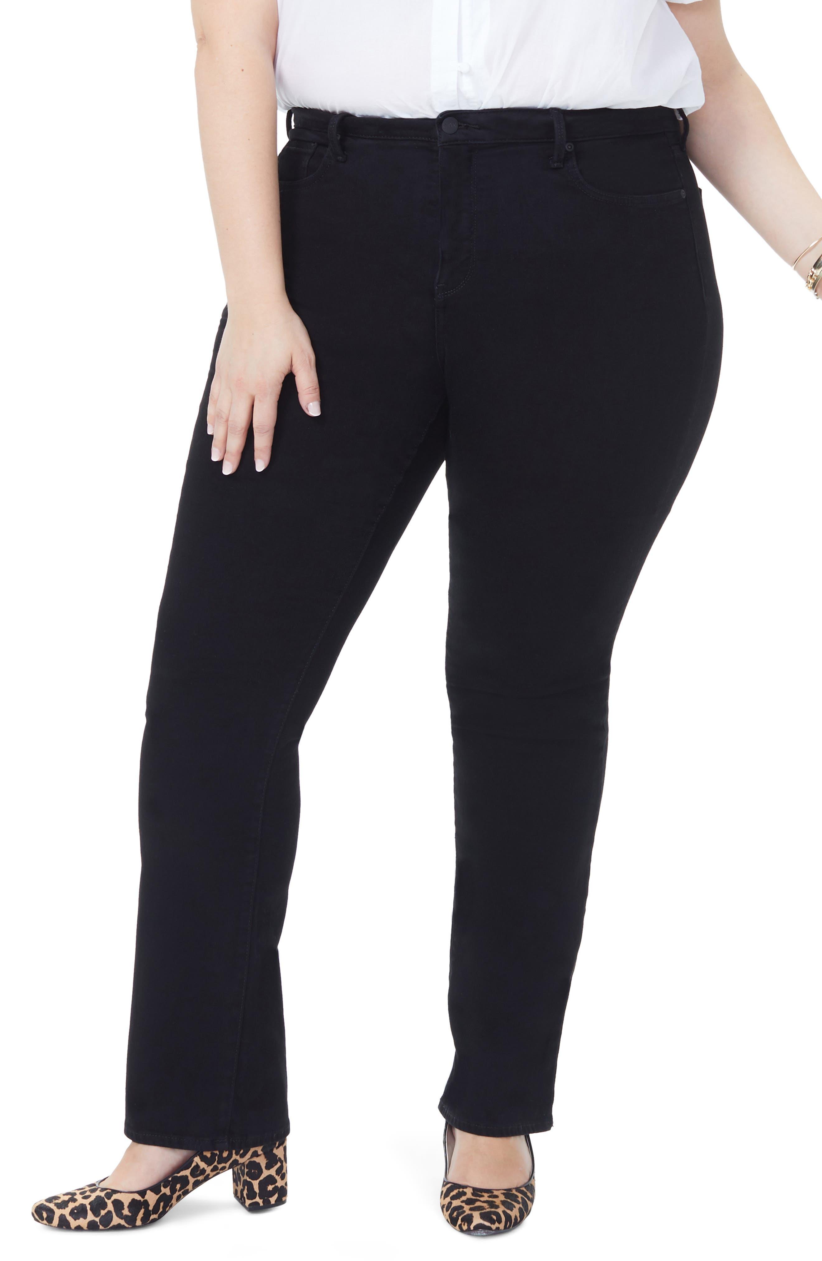 NYDJ, Barbara High Rise Bootcut Jeans, Main thumbnail 1, color, BLACK