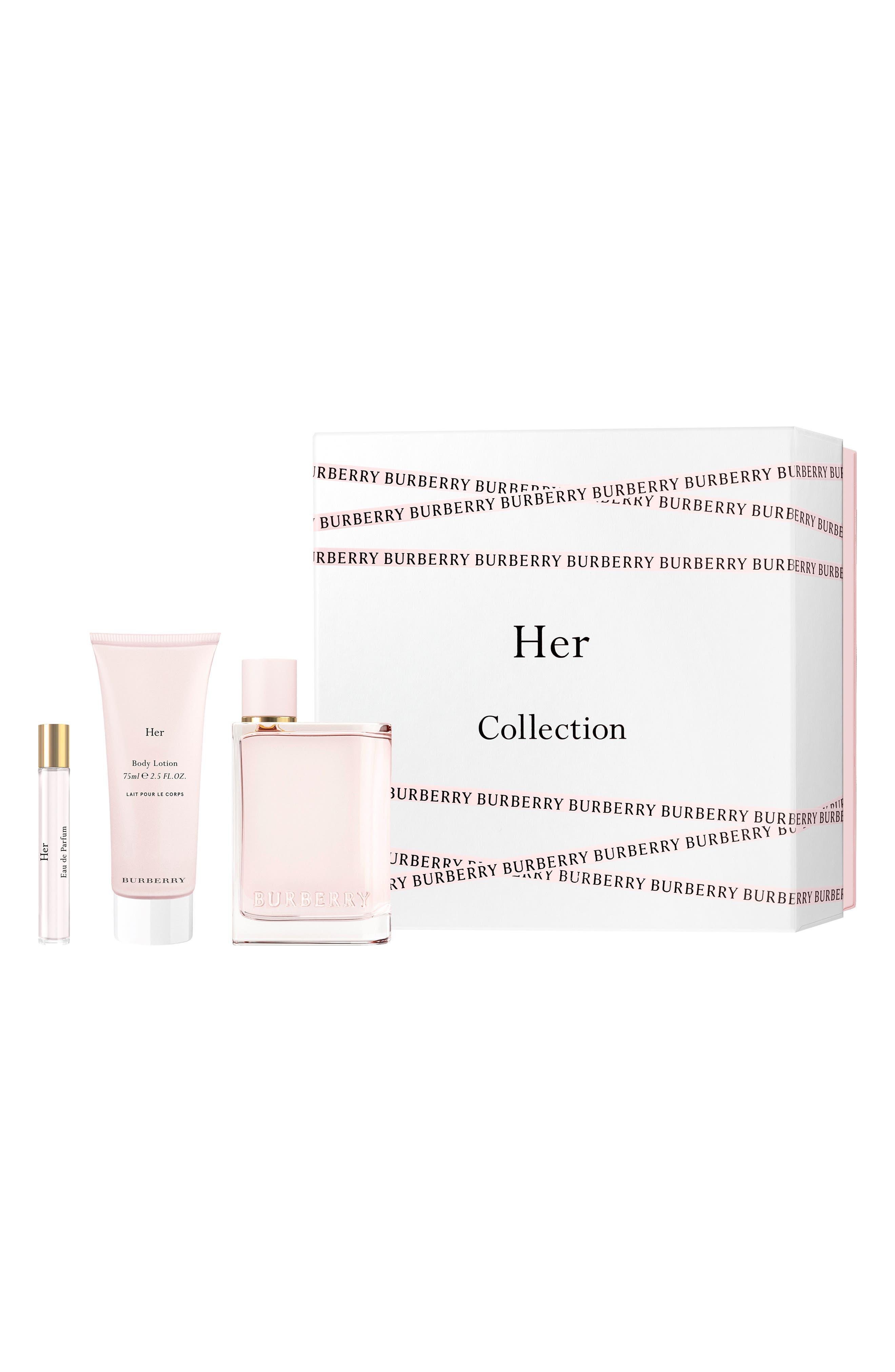 BURBERRY, Her Eau de Parfum Set, Alternate thumbnail 2, color, NO COLOR